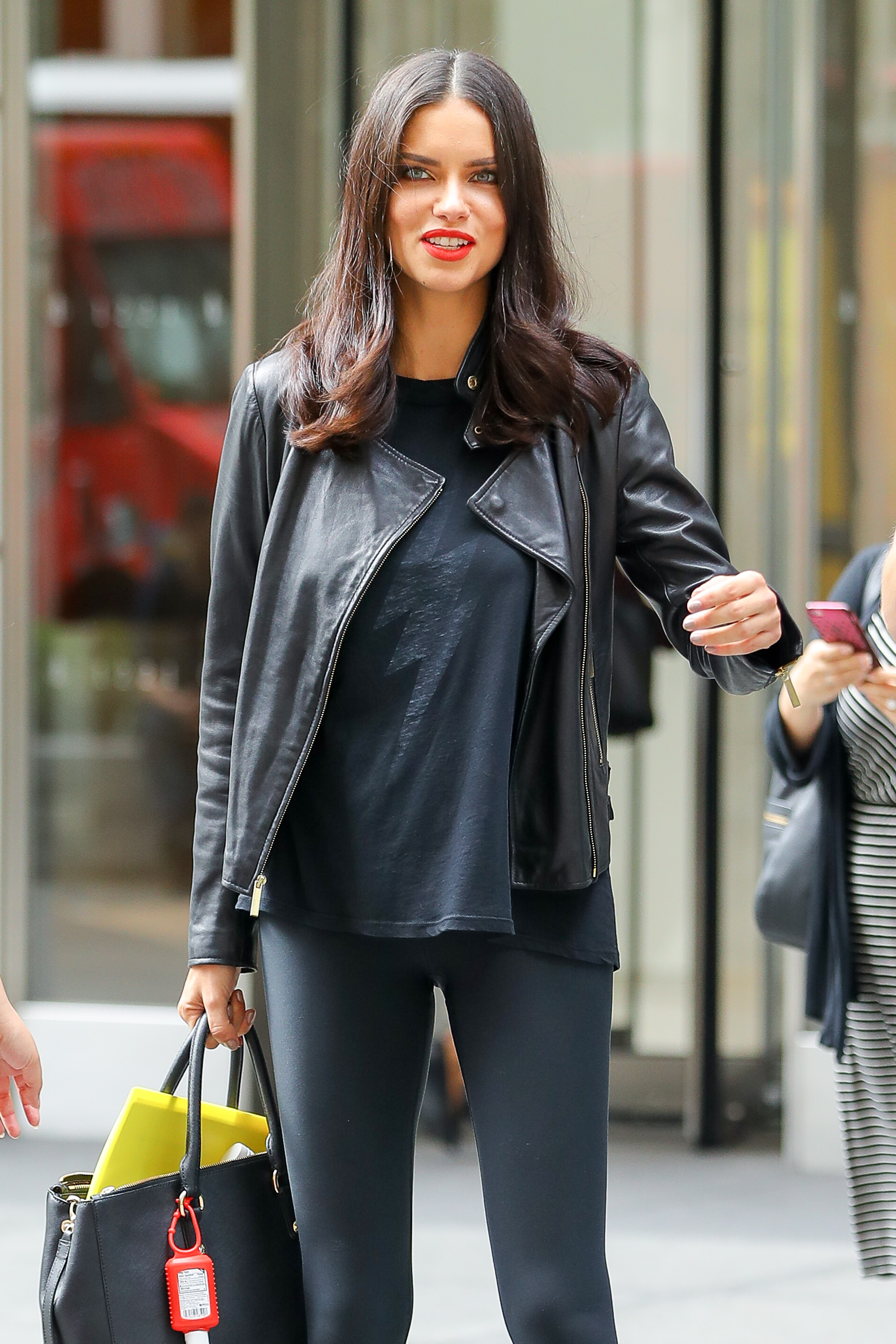 Adriana Lima is seen leaving SiriusXM studios in New York City, New York. <P> Pictured: Adriana Lima <B>Ref: SPL1583236  180917  </B><BR/> Picture by: Felipe Ramales / Splash News<BR/> </P><P> <B>Splash News and Pictures</B><BR/> Los Angeles:310-821-2666<BR/> New York:212-619-2666<BR/> London:870-934-2666<BR/> <span id=