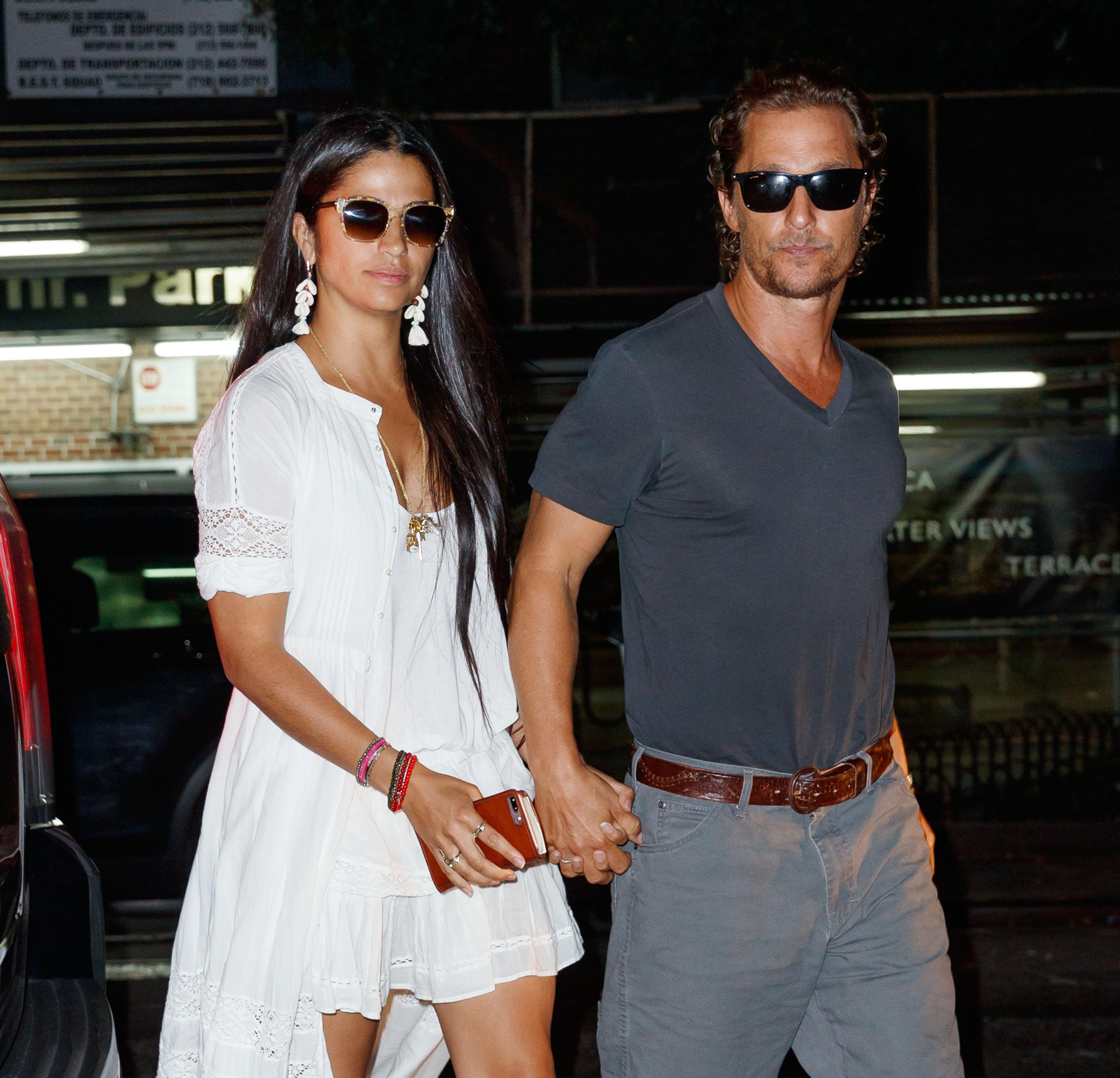 Matthew McConaughey and Camila Alves go to see a screening in New York. <P> Pictured: Matthew McConaughey and Camila Alves <B>Ref: SPL1590475  270917  </B><BR/> Picture by: Jackson Lee / Splash News<BR/> </P><P> <B>Splash News and Pictures</B><BR/> Los Angeles:310-821-2666<BR/> New York:212-619-2666<BR/> London:870-934-2666<BR/> <span id=