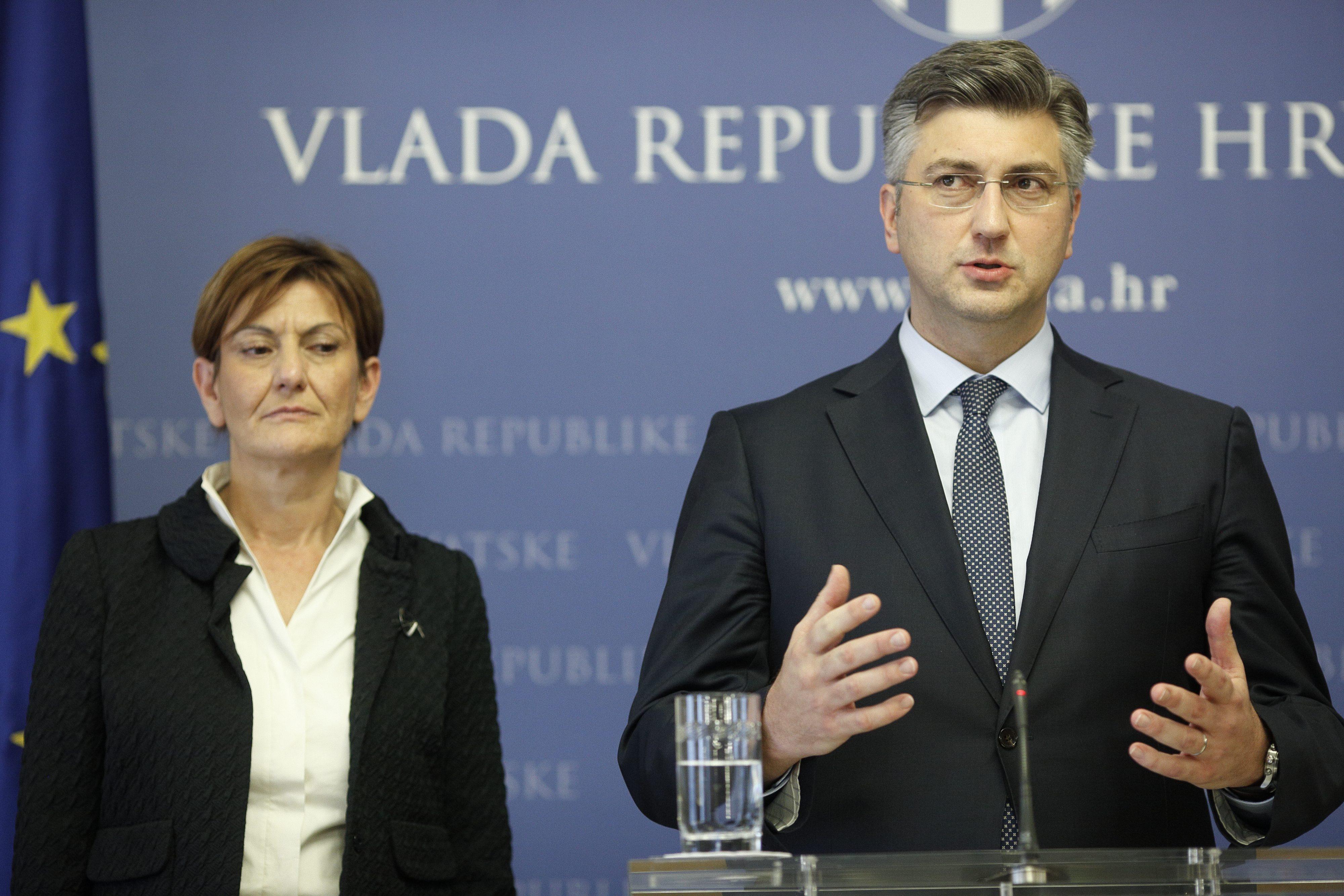 Martina Dalić i Andrej Plenković