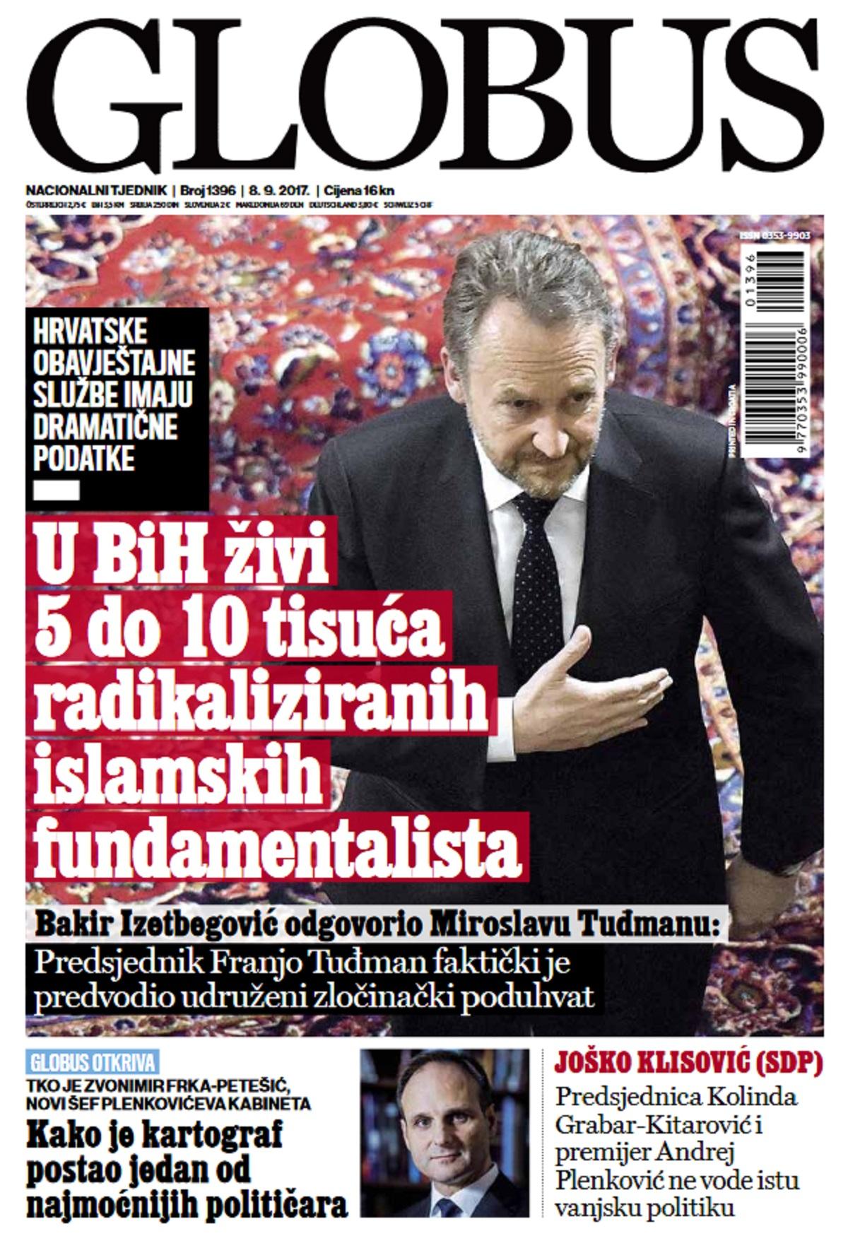 Globus, izdanje za subotu (8. rujna 2017.)