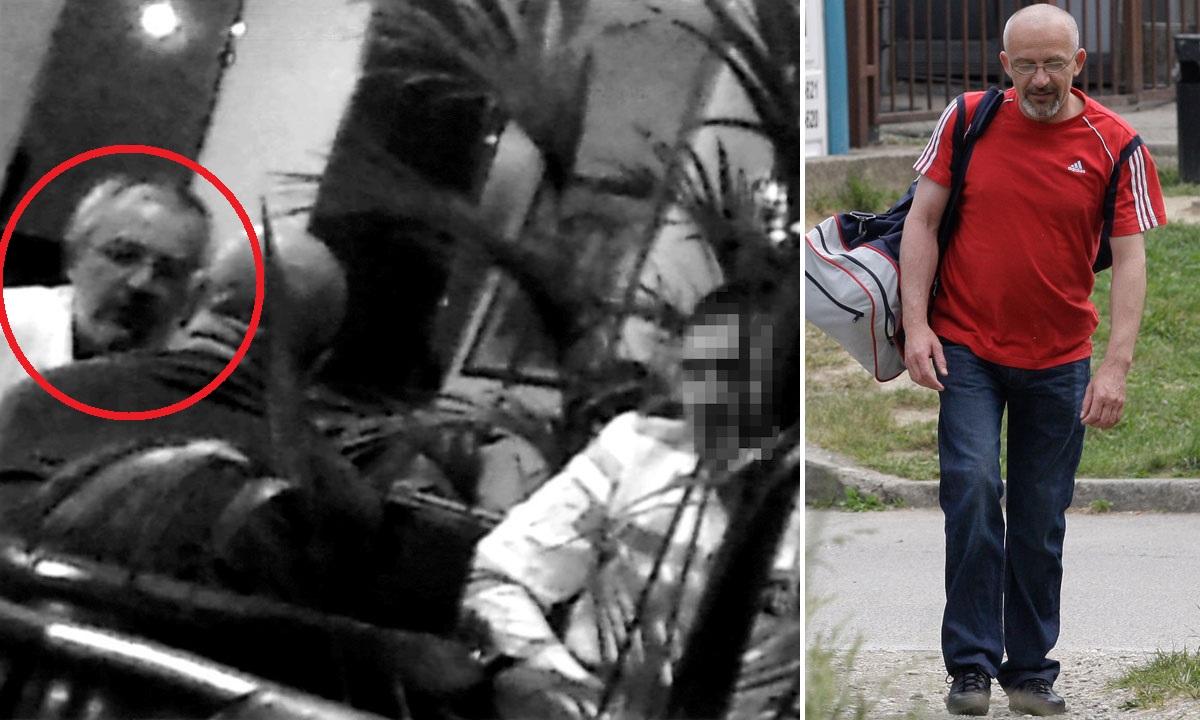 lijevo: snimka sastanka Zlatka Korpara s Vladom Rajićem (okrenut leđima) i Damirom Ivićem u hotelu u Buzinu u sklopu Uskokove akcije London