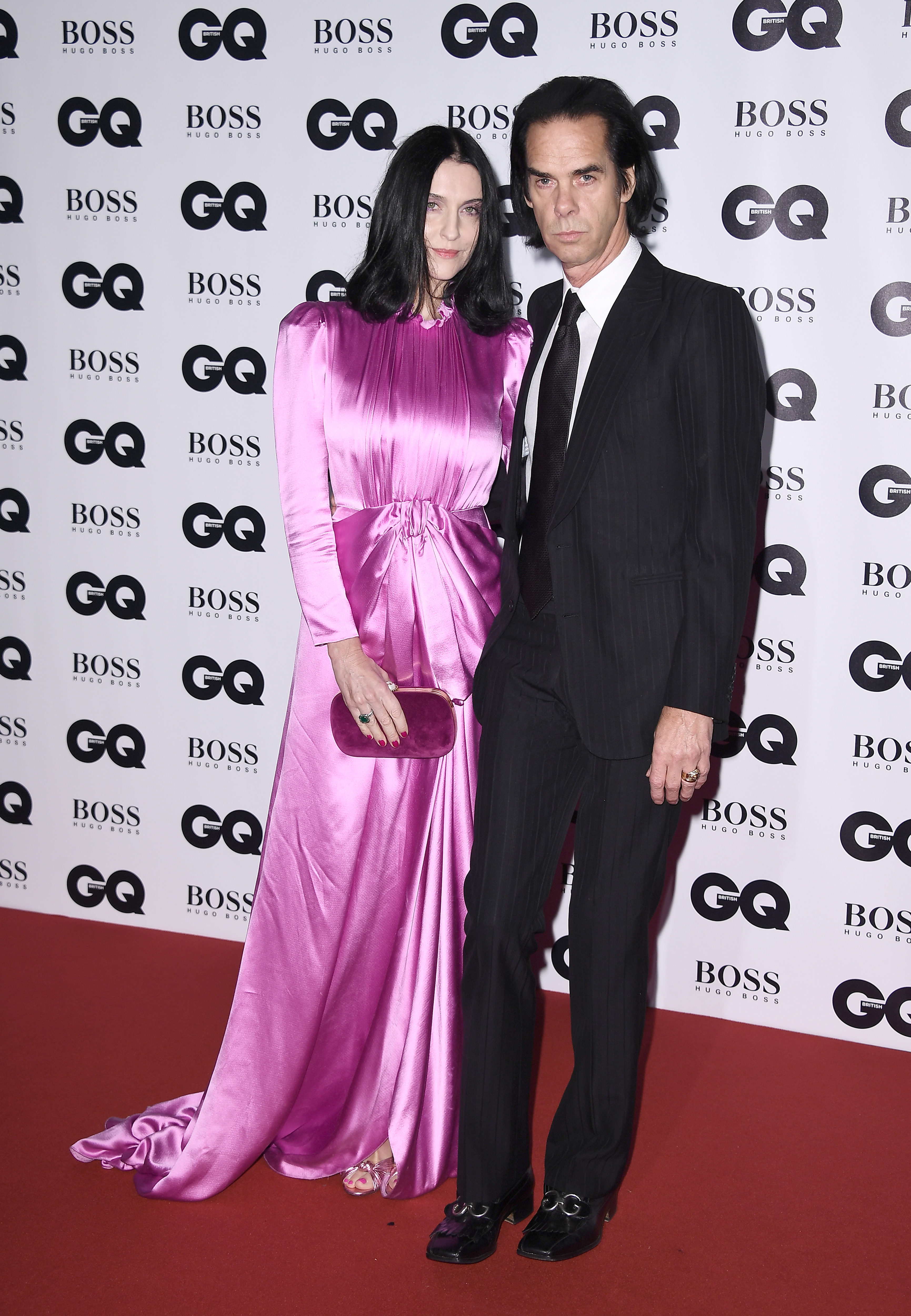 LONDON, ENGLAND - SEPTEMBER 05:  Susie Bick (L) and Nick Cave attend the GQ Men Of The Year Awards at the Tate Modern on September 5, 2017 in London, England.  (Photo by Gareth Cattermole/Getty Images)