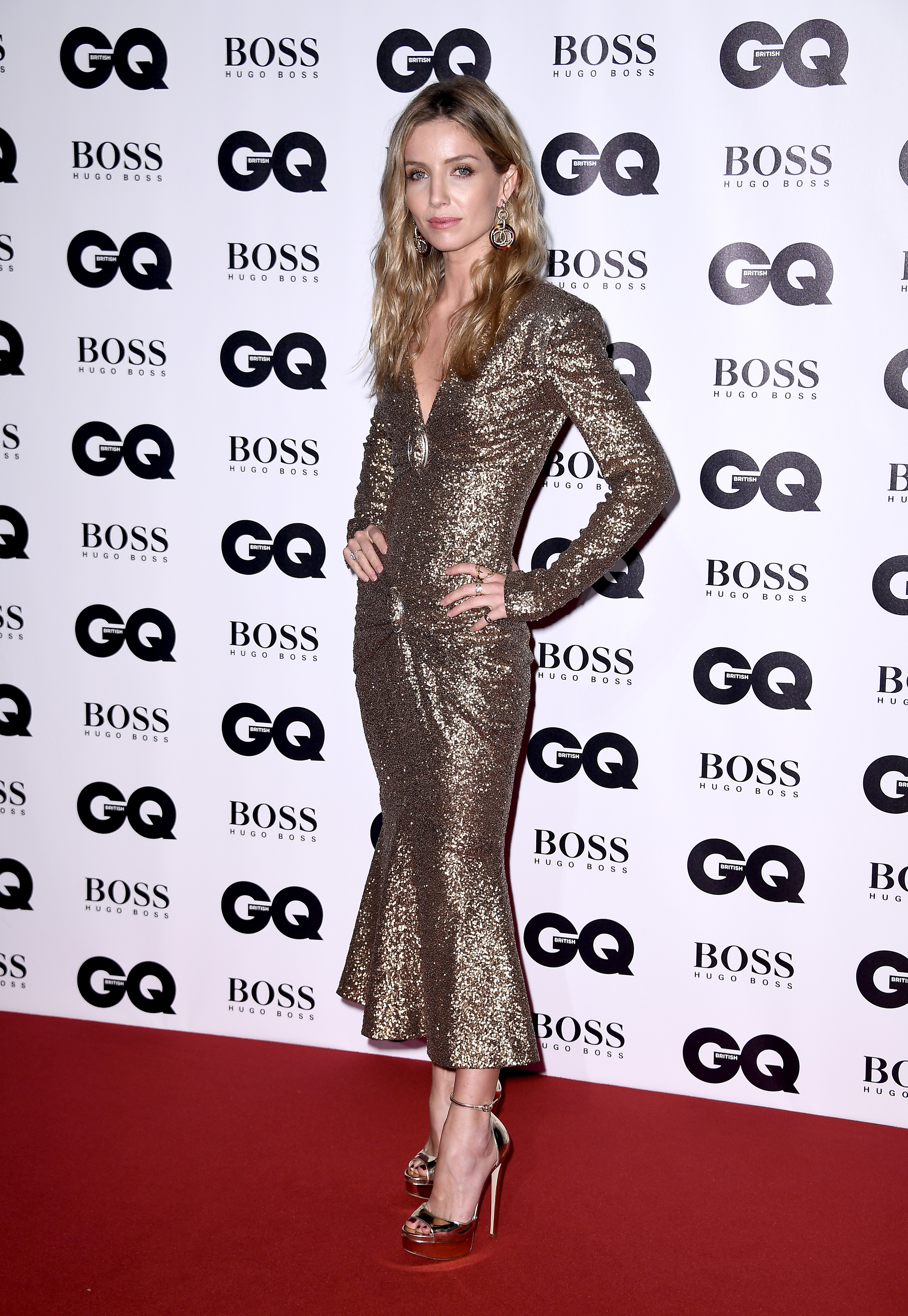 LONDON, ENGLAND - SEPTEMBER 05:  Annabelle Wallis attends the GQ Men Of The Year Awards at the Tate Modern on September 5, 2017 in London, England.  (Photo by Gareth Cattermole/Getty Images)