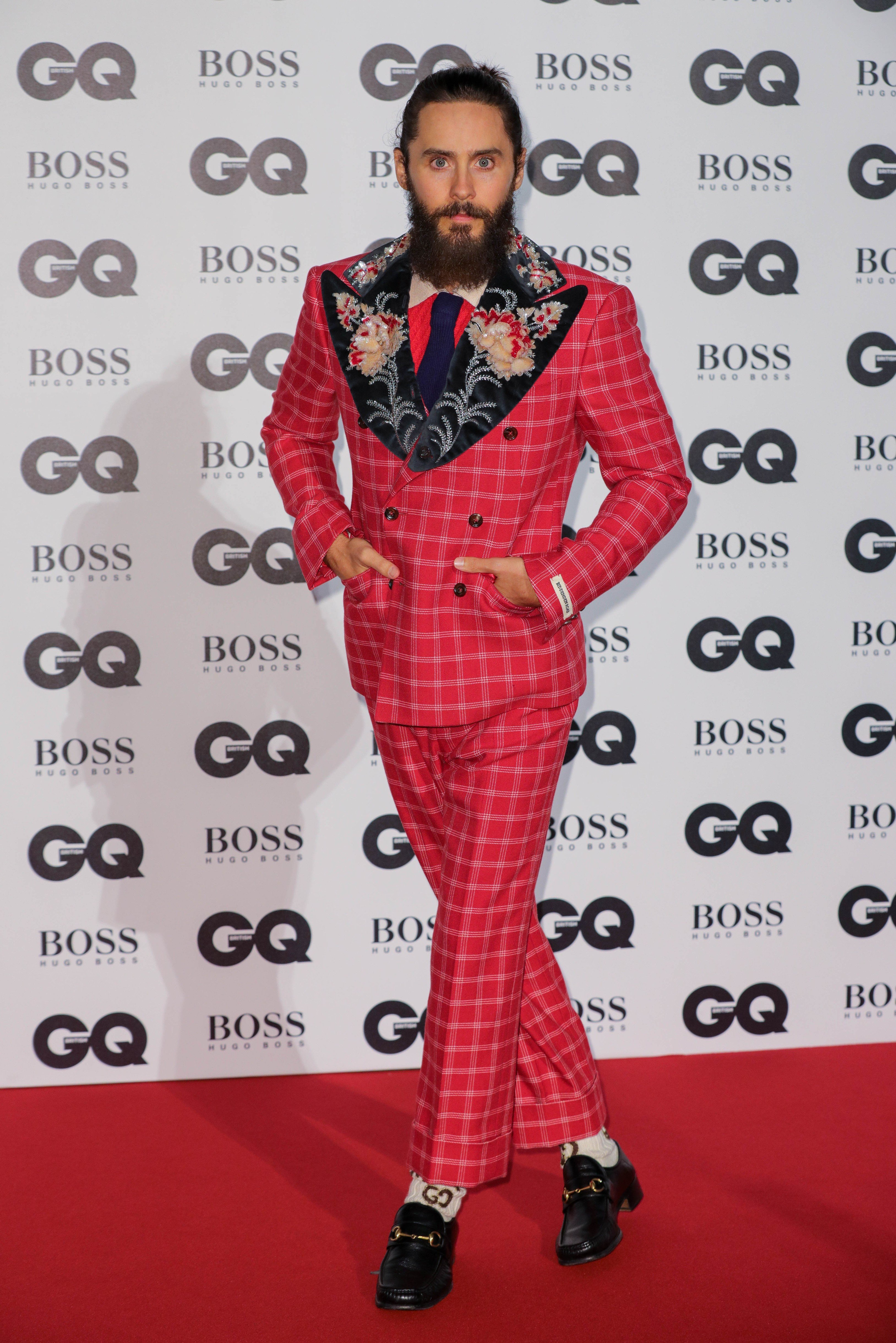 Jared Leto arrives for the GQ Men of the Year Awards at the Tate Modern, London, UK, Image: 348448053, License: Rights-managed, Restrictions: WORLD RIGHTS- Fee Payable Upon Reproduction - For queries contact Avalon.red - sales@avalon.red  London: +44 (0) 20 7421 6000  Los Angeles: +1 (310) 822 0419  Berlin: +49 (0) 30 76 212 251, Model Release: no, Credit line: Profimedia, Uppa entertainment