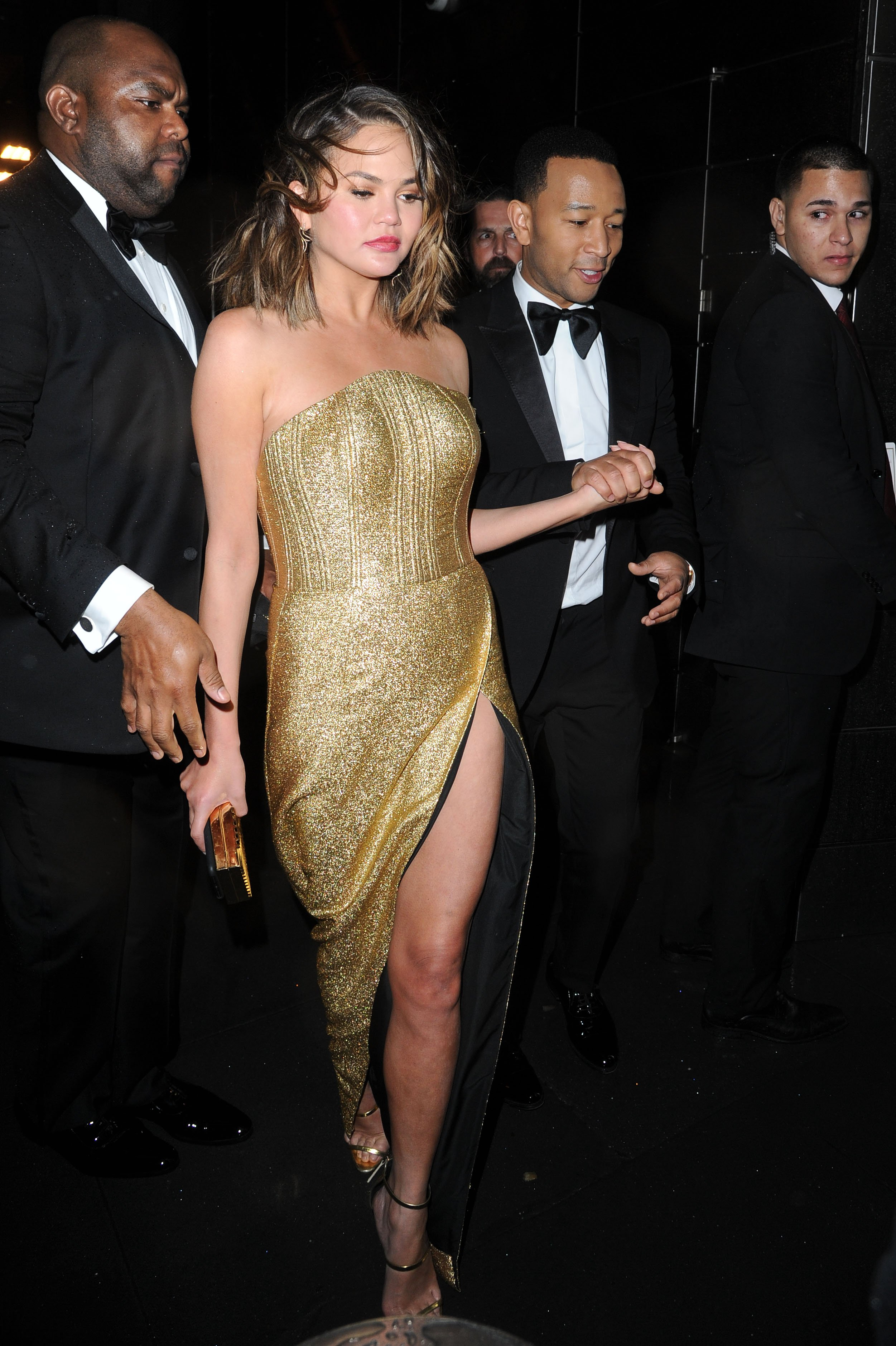 MANHATTAN, NY - APRIL 25, 2017: Chrissy Teigen and John Legend seen leaving Time 100 Gala on APRIL 25, 2017 in New York, Image: 330308697, License: Rights-managed, Restrictions: *US MAGAZINES-PLEASE REPORT USAGE*  **FEE MUST BE AGREED PRIOR TO USAGE** ***E-TABLET/IPAD & MOBILE PHONE APP***, Model Release: no, Credit line: Profimedia, Buzzfoto