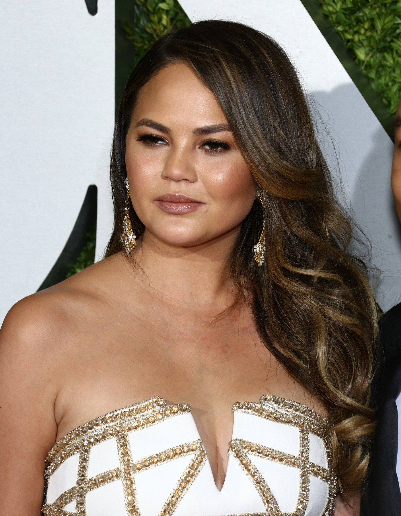 Chrissy Teigen at arrivals for 71st Annual Tony Awards - Arrivals, Radio City Music Hall, New York, NY June 11, 2017., Image: 336589564, License: Rights-managed, Restrictions: For usage credit please use; John Nacion/Everett Collection, Model Release: no, Credit line: Profimedia, Everett