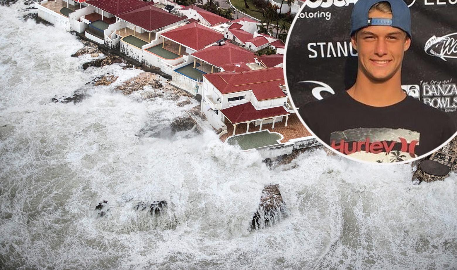 Val uragan Irma surfer Venezia