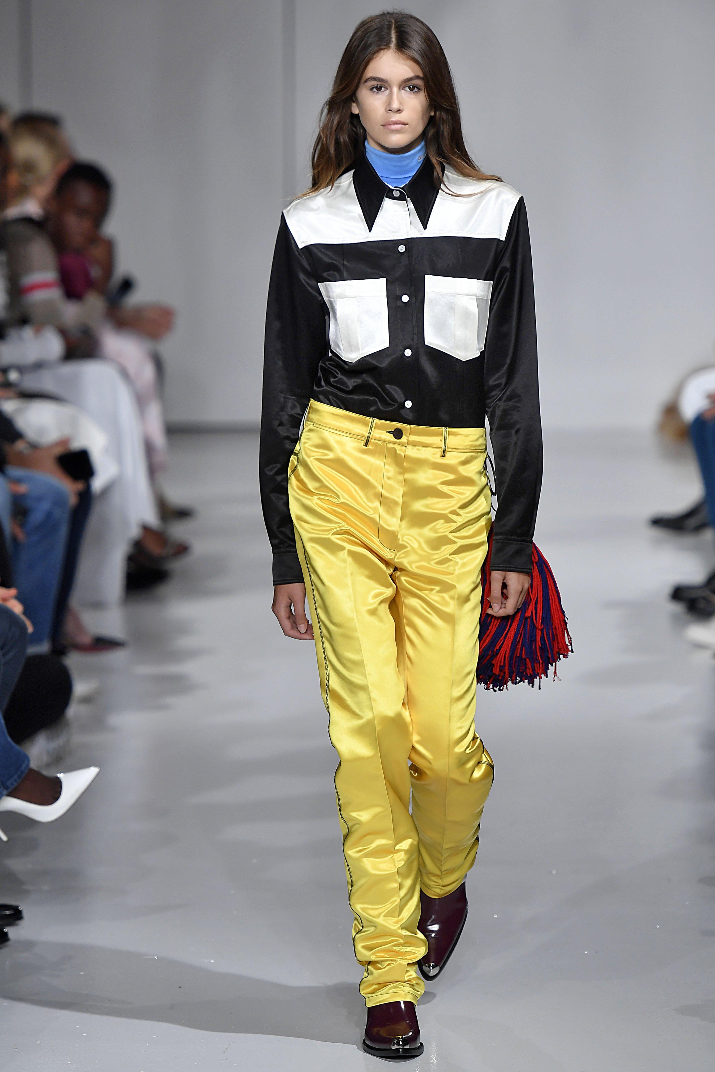 Kaia Gerber prvi put je prošetala pistom na reviji Calvin Klein za sezonu proljeće/ljeto 2018