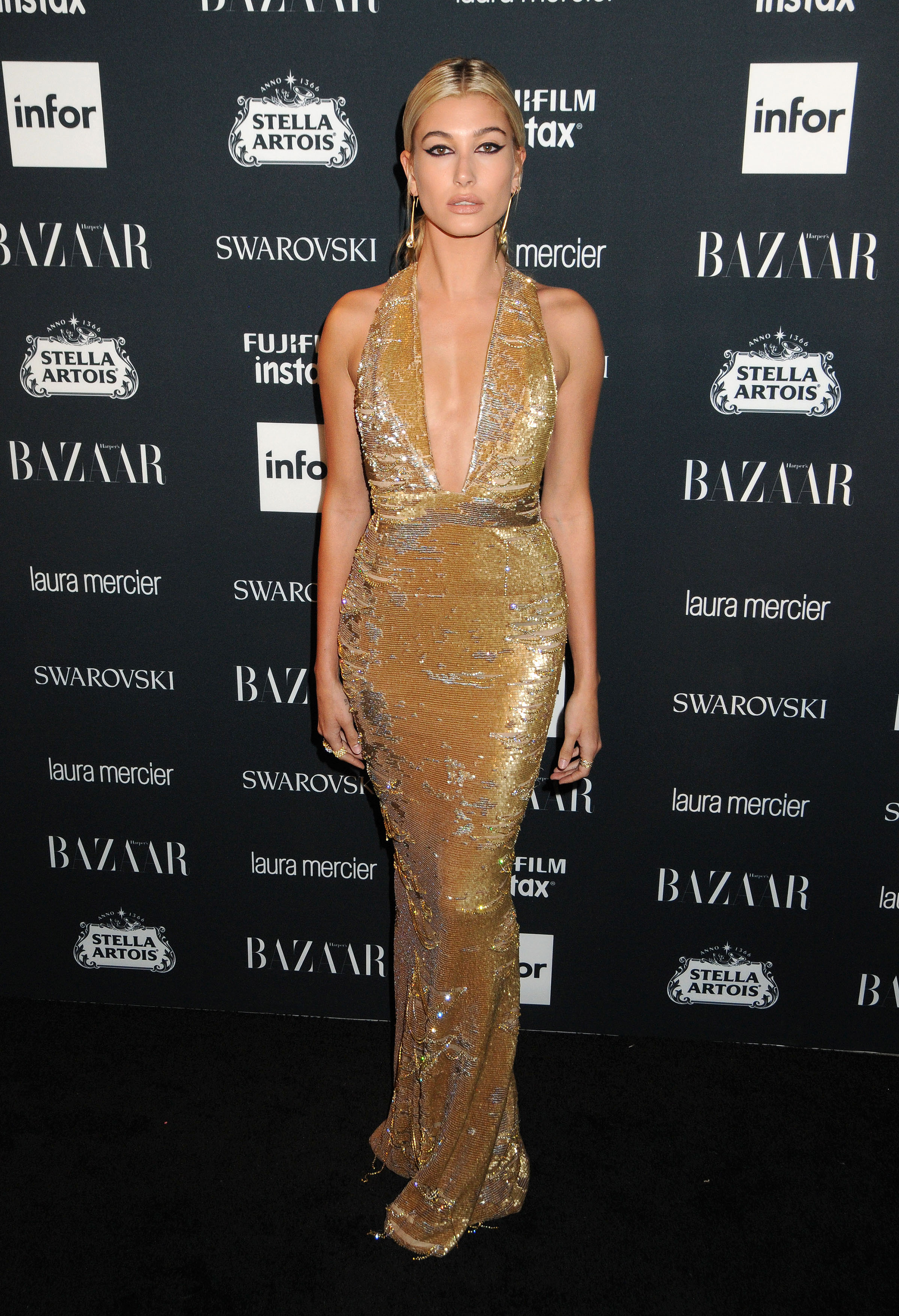 Nicki Minaj and Hailey Baldwin arrives to the 2017 Harper's Bazaar Icons - New York <P> Pictured: Hailey Baldwin <B>Ref: SPL1572837  080917  </B><BR/> Picture by: Johns PkI / Splash News<BR/> </P><P> <B>Splash News and Pictures</B><BR/> Los Angeles:310-821-2666<BR/> New York:212-619-2666<BR/> London:870-934-2666<BR/> <span id=