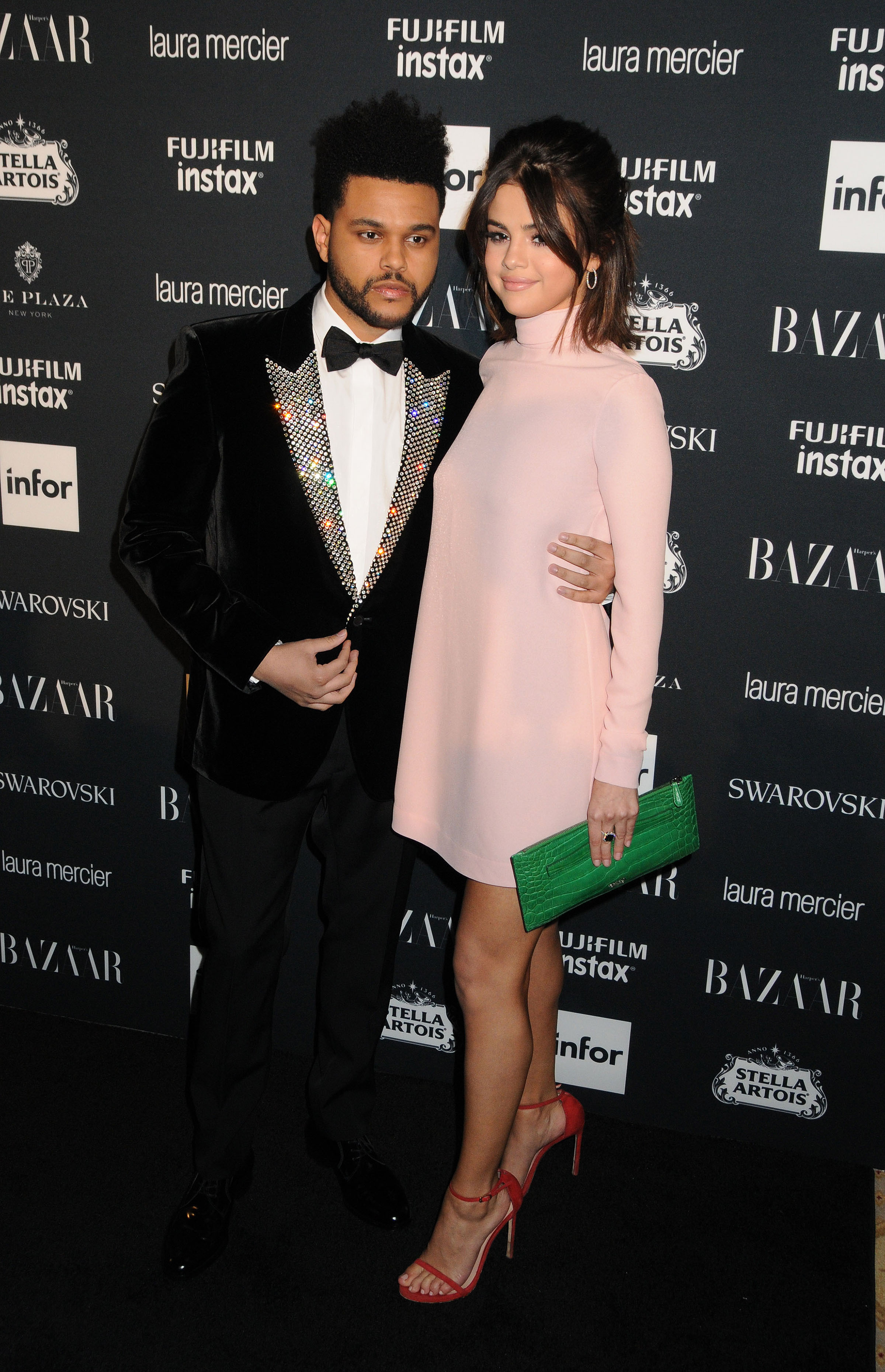 Selena Gomez and The Weeknd arrives to the 2017 Harper's Bazaar Icons - New York <P> Pictured: Selena Gomez, The Weeknd <B>Ref: SPL1572867  080917  </B><BR/> Picture by: Johns PkI / Splash News<BR/> </P><P> <B>Splash News and Pictures</B><BR/> Los Angeles:310-821-2666<BR/> New York:212-619-2666<BR/> London:870-934-2666<BR/> <span id=