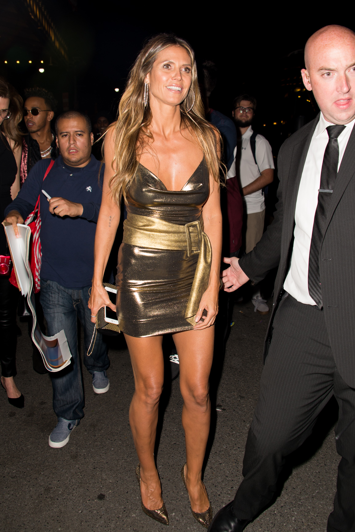 Stars spotted leaving the Harper's Bazaar Icons Party in New York City, New York. <P> Pictured: Heidi Klum <B>Ref: SPL1572912  080917  </B><BR/> Picture by: Matt Brandt / Splash News<BR/> </P><P> <B>Splash News and Pictures</B><BR/> Los Angeles:310-821-2666<BR/> New York:212-619-2666<BR/> London:870-934-2666<BR/> <span id=
