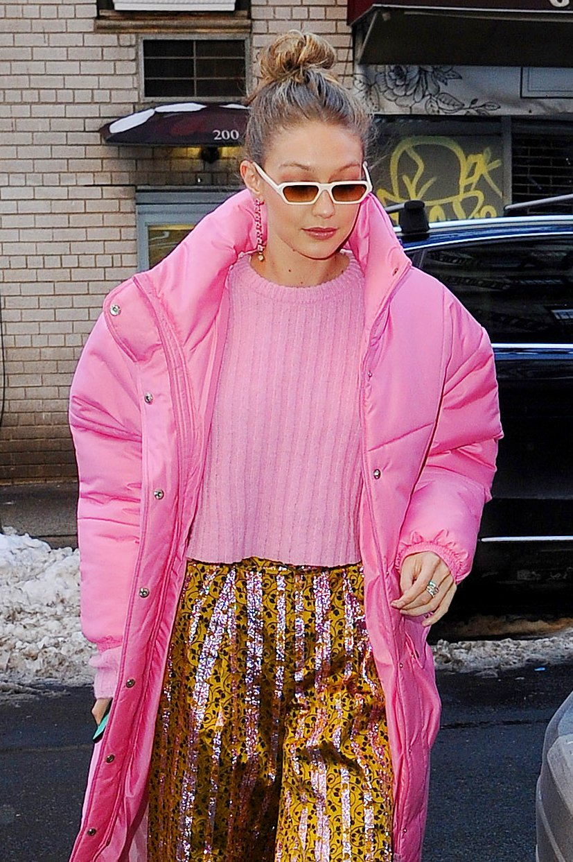 Colorful Gigi Hadid steps out in SoHo. 09 Jan 2018 Pictured: Gigi Hadid., Image: 359729748, License: Rights-managed, Restrictions: World Rights, Model Release: no, Credit line: Profimedia, Mega Agency