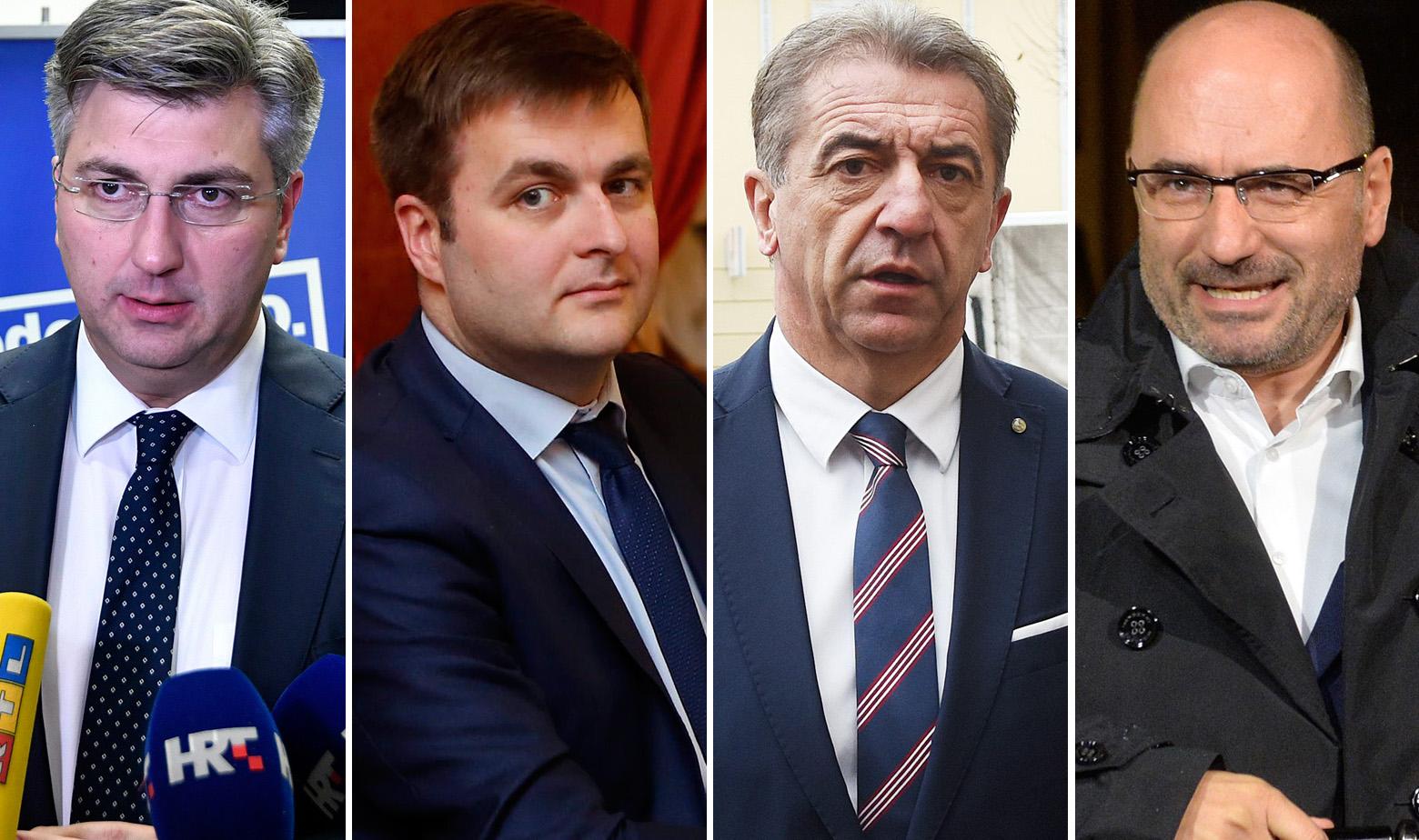 Plenković, Ćorić, Milinović i Brkić