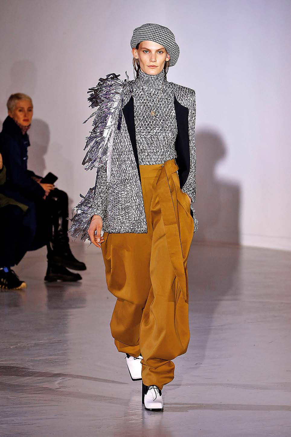 PARIS, FRANCE - MARCH 1: A model walks the runway during the Wanda Nylondesigned by Nana Aganovich show as part of the Paris Fashion Week Womenswear Fall/Winter 2017/2018 on March 1, 2017 in Paris, France. (Photo by Estrop/Getty Images)