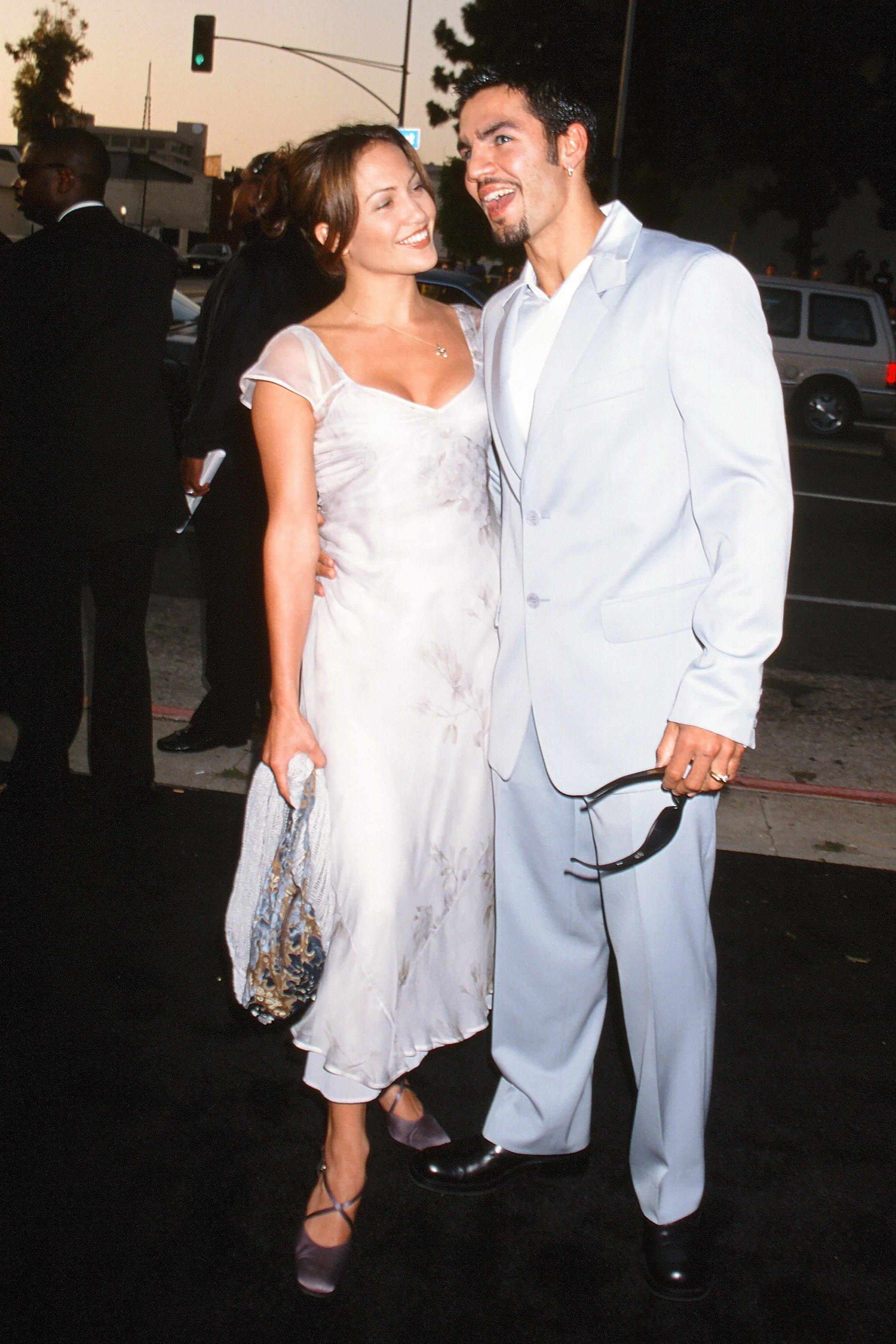 June 25, 1997 - Los Angeles, CA, USA - LOS ANGELES - JUN 25:  Ojani Noa, Jennifer Lopez at the ''Men in Black'' Premiere at the Cinerama Dome on June 25, 1997 in Los Angeles, CA, Image: 332288618, License: Rights-managed, Restrictions: , Model Release: no, Credit line: Profimedia, Zuma Press - Archives