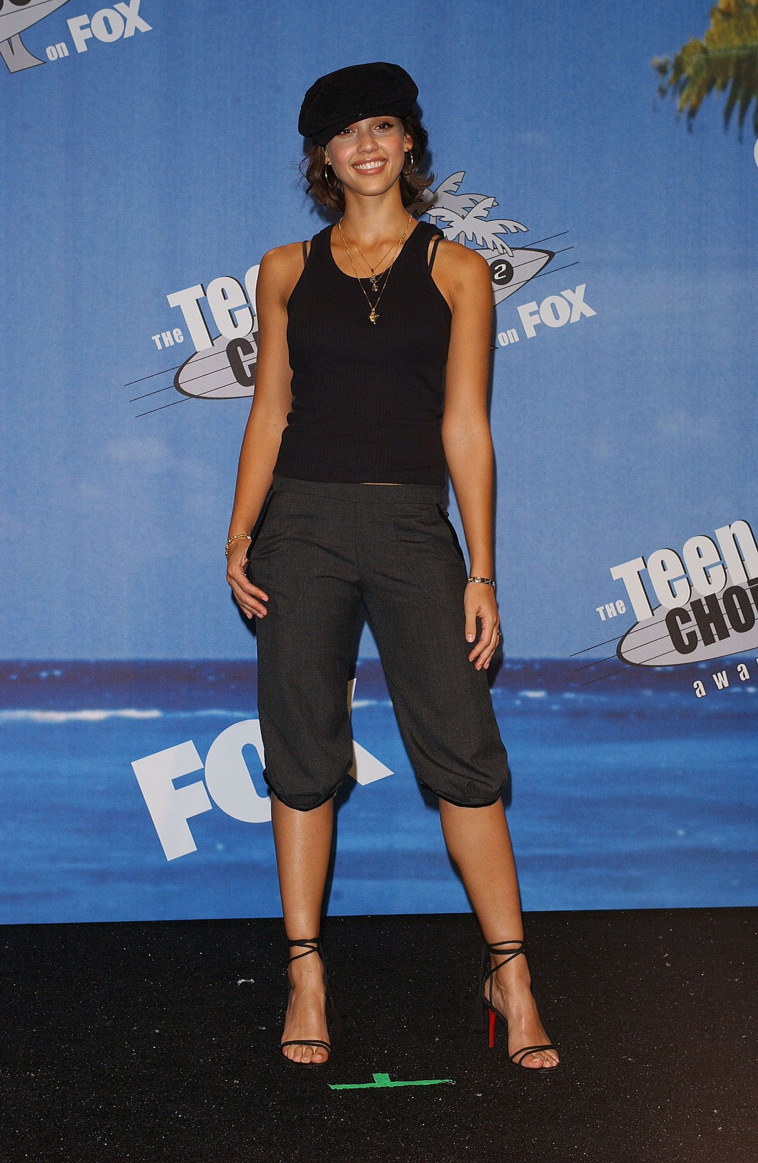 Aug. 4, 2002 - STAMP, U.S. - KRT STAND-ALONE PHOTO - KRT PHOTOGRAPH BY LIONEL HAHN/ABACA (August 5) Jessica Alba appears at the 2002 Teen Choice Awards, Sunday, August 4, 2002 in Los Angeles, California. (KRT) NC KD BL 2002 (Vert) (smd), Image: 193594369, License: Rights-managed, Restrictions: , Model Release: no, Credit line: Profimedia, Zuma Press - Archives