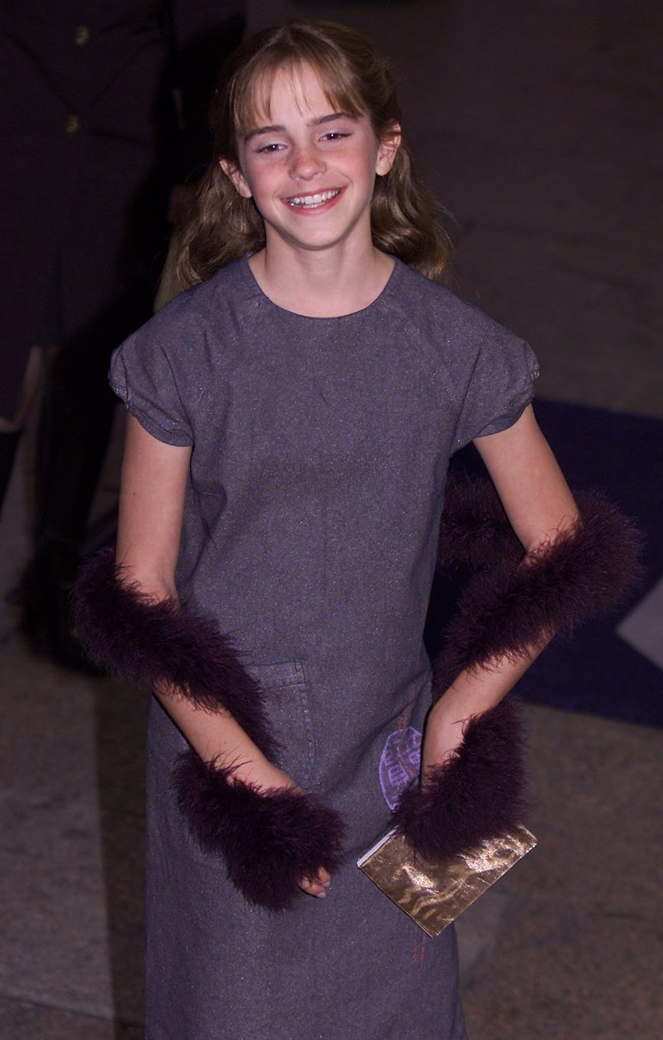 Emma Watson, who plays Hermione Grainger, arrives at the Premiere of