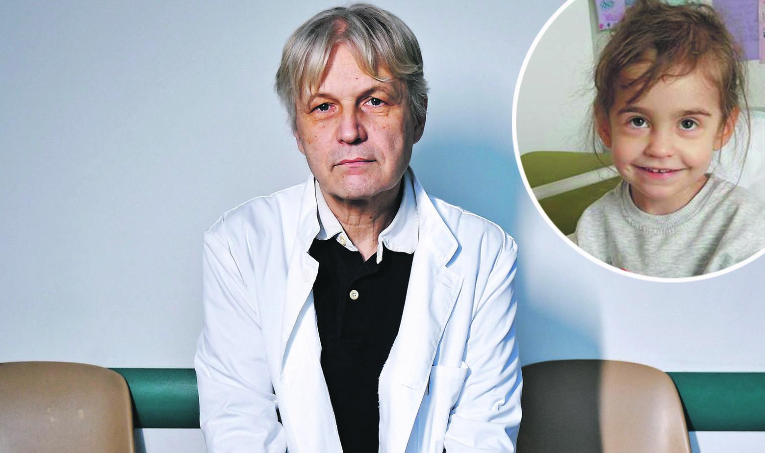 Kardiokirurg Darko Anić i mala Rita kojoj je presadio srce