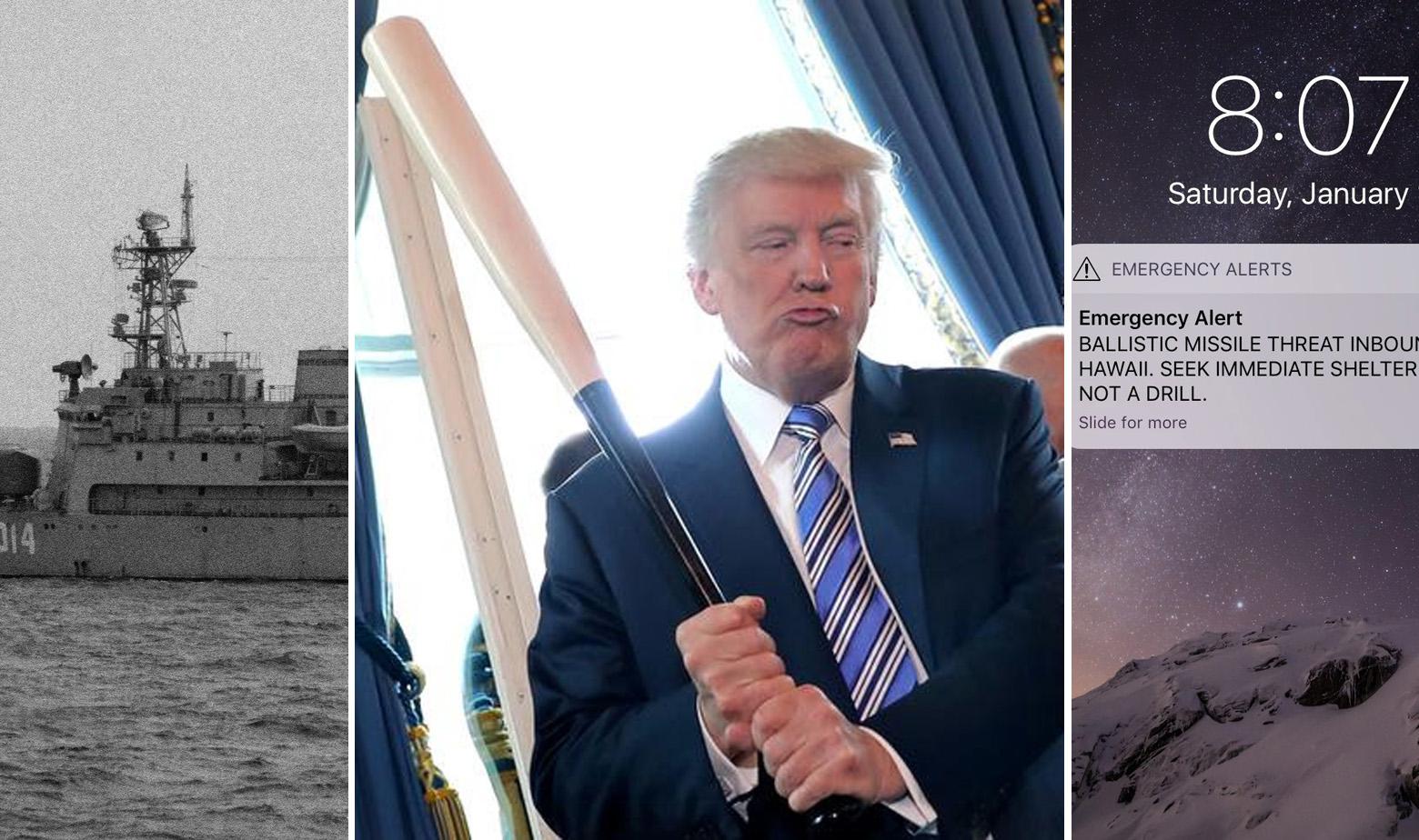 Sovjetski ledolomac koji je tražio ostatke srušenog zrakoplova Korean Airlinesa s leta 007, Donald Trump s bejzbol palicom i upozorenje stanovnicima Havaja