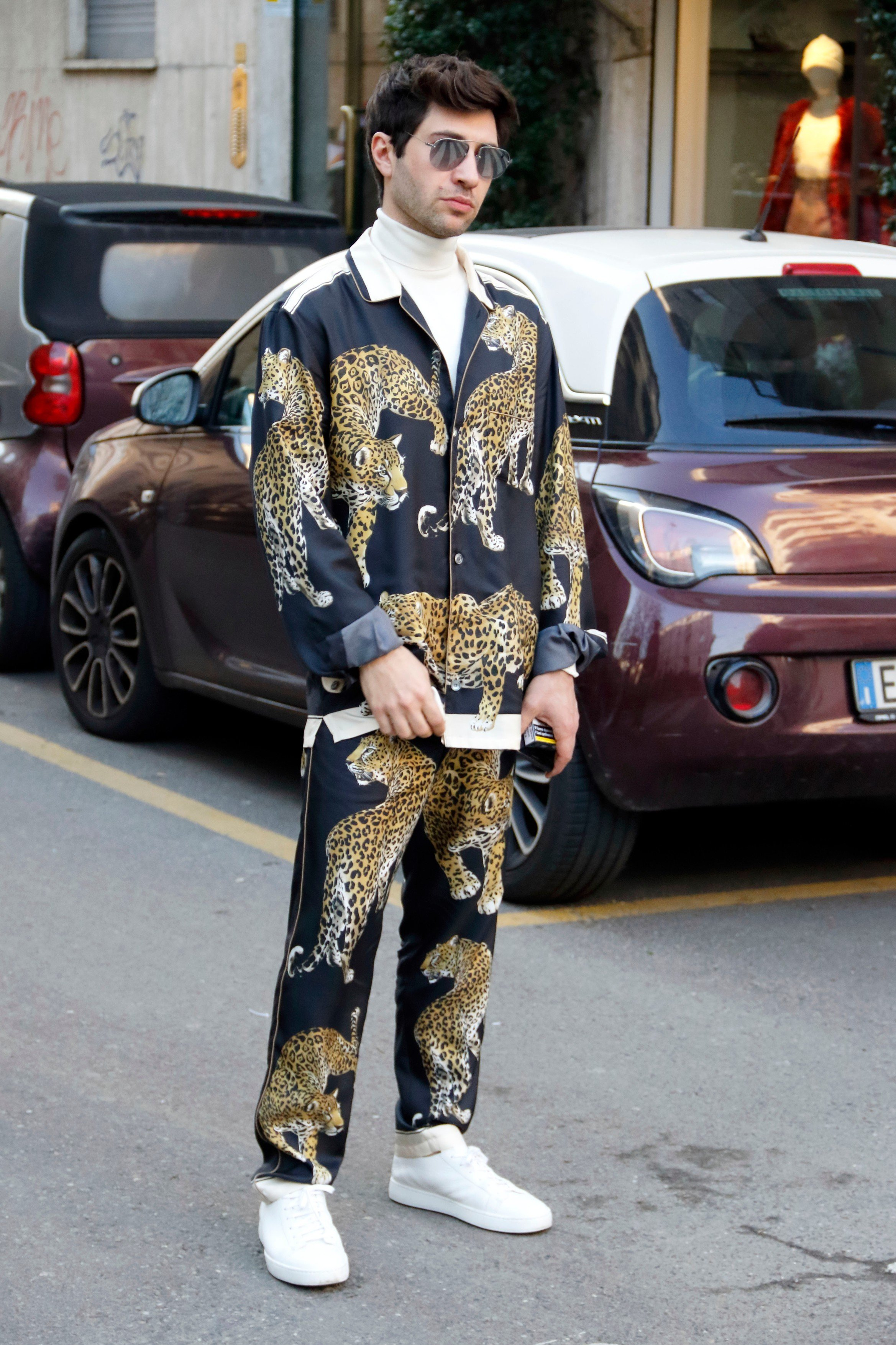 Guest arriving at Dolce e Gabbana fashion show in Milan, Italy, January 13, 2018., Image: 360101231, License: Rights-managed, Restrictions: , Model Release: no, Credit line: Profimedia, Abaca