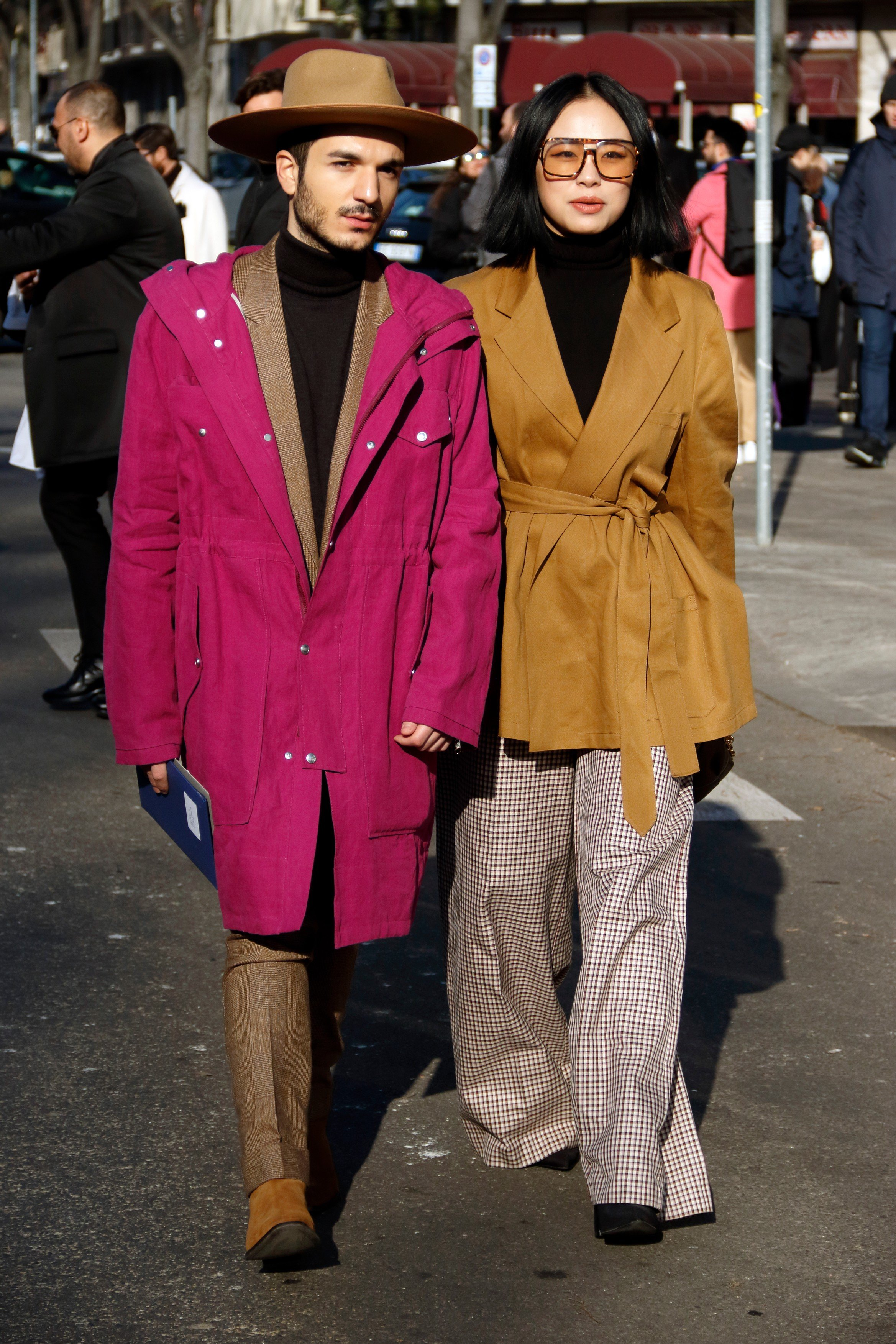 Guest arriving at Emporio Armani fashion show in Milan, Italy, January 13, 2018., Image: 360101257, License: Rights-managed, Restrictions: , Model Release: no, Credit line: Profimedia, Abaca