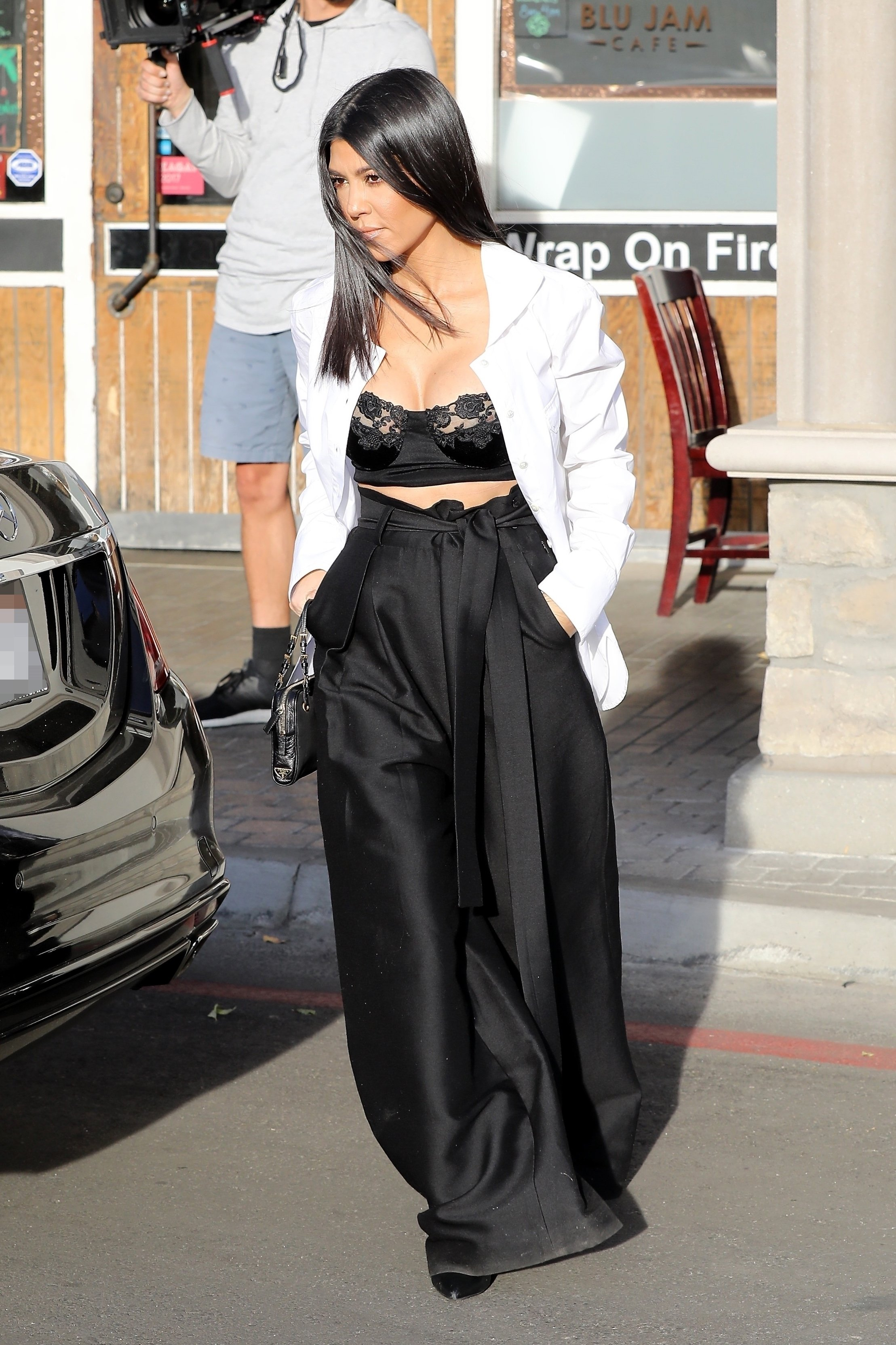 Calabasas, CA  - Kendall Jenner leaves Blu Jam Cafe after meeting with sister Kourtney Kardashian and her daughter Penelope along with Larsa Pippen.  The ladies had a