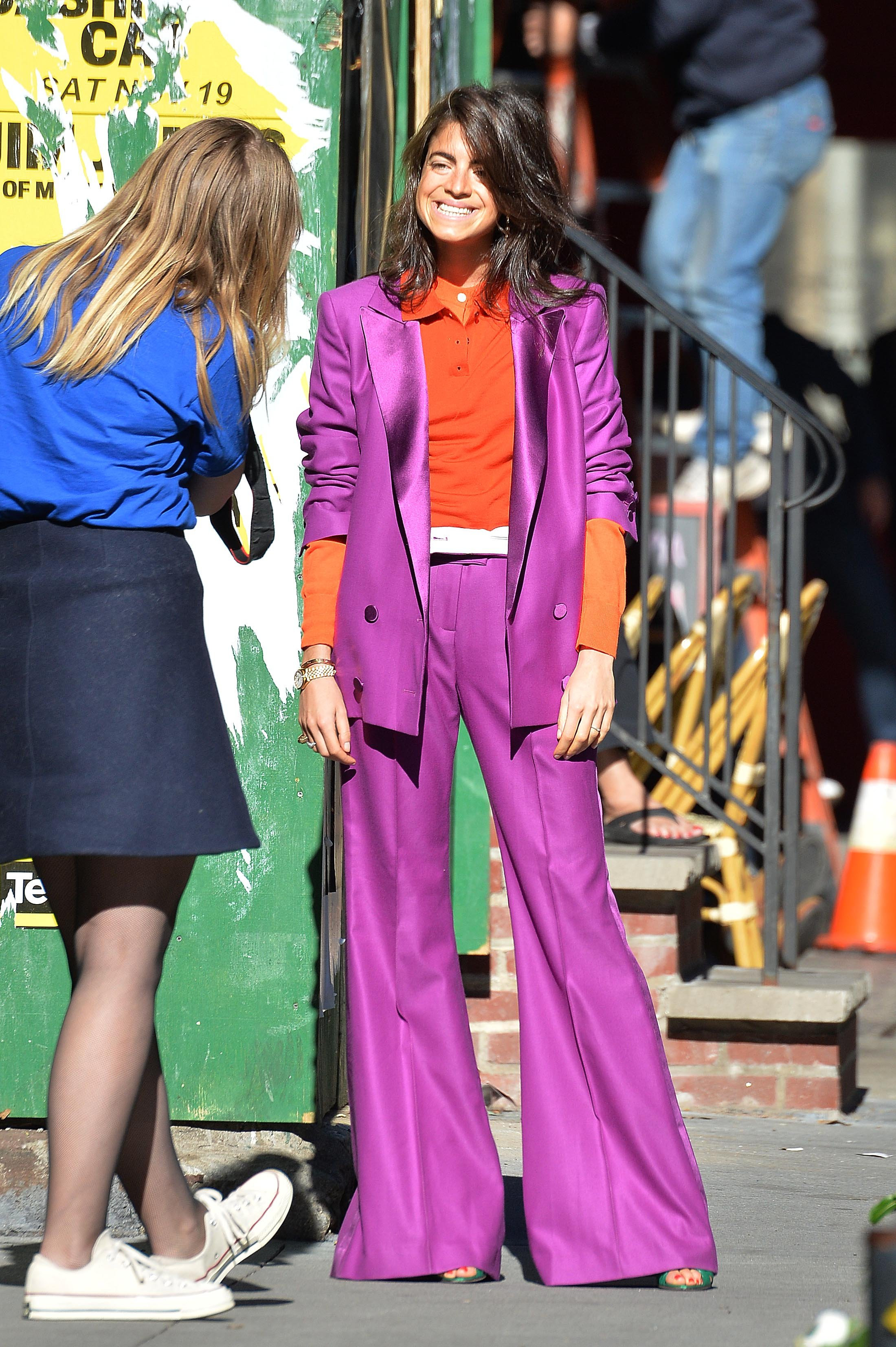MANHATTAN, NY - NOVEMBER 08, 2016: Leandra Medine does a photo shoot in Soho for The Man Repeller fashion website on NOVEMBER 08, 2016 in New York, Image: 305096632, License: Rights-managed, Restrictions: *US MAGAZINES-PLEASE REPORT USAGE*  **FEE MUST BE AGREED PRIOR TO USAGE** ***E-TABLET/IPAD & MOBILE PHONE APP***, Model Release: no, Credit line: Profimedia, Buzzfoto