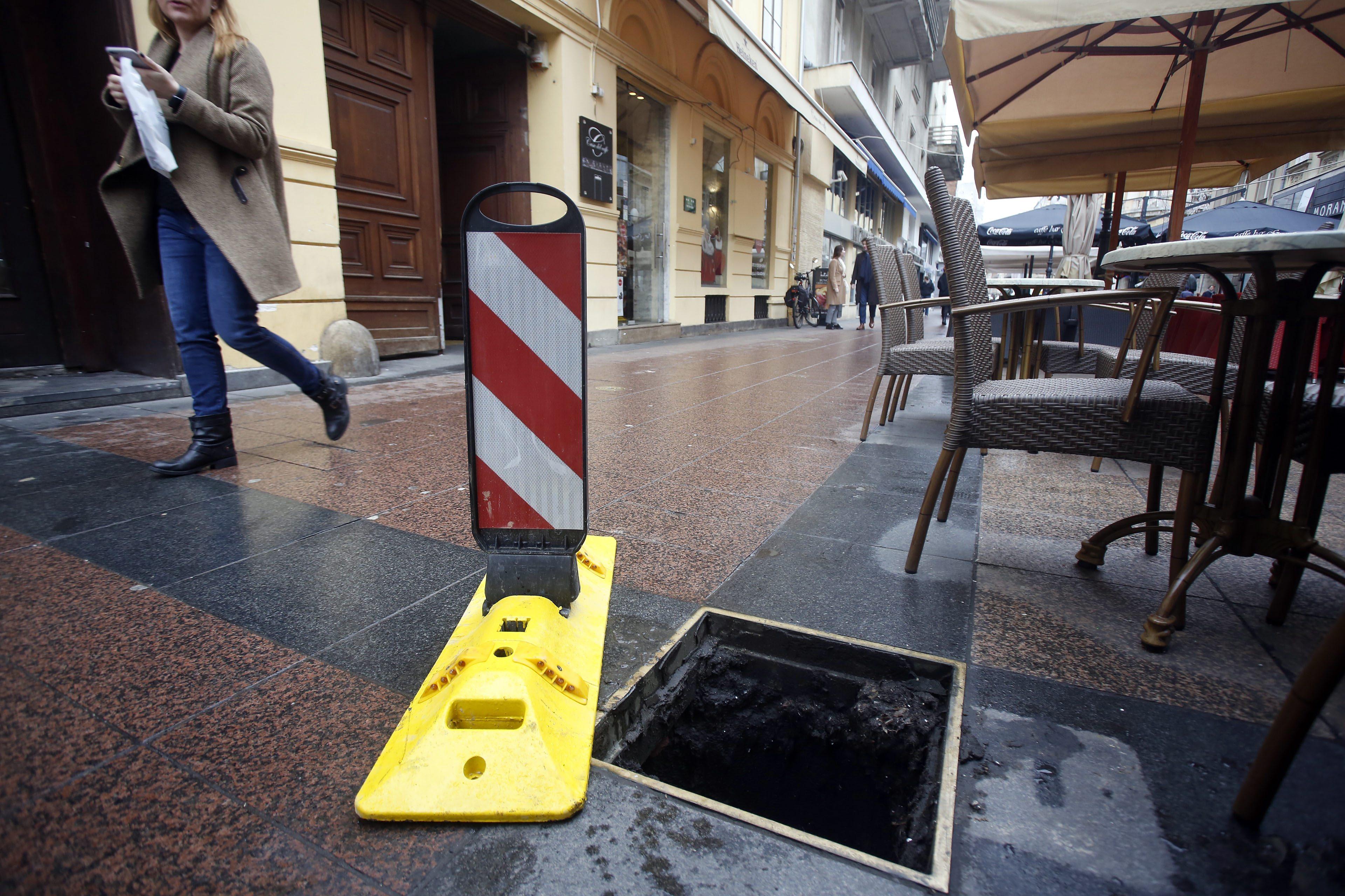 Ukradeni šaht u centru grada