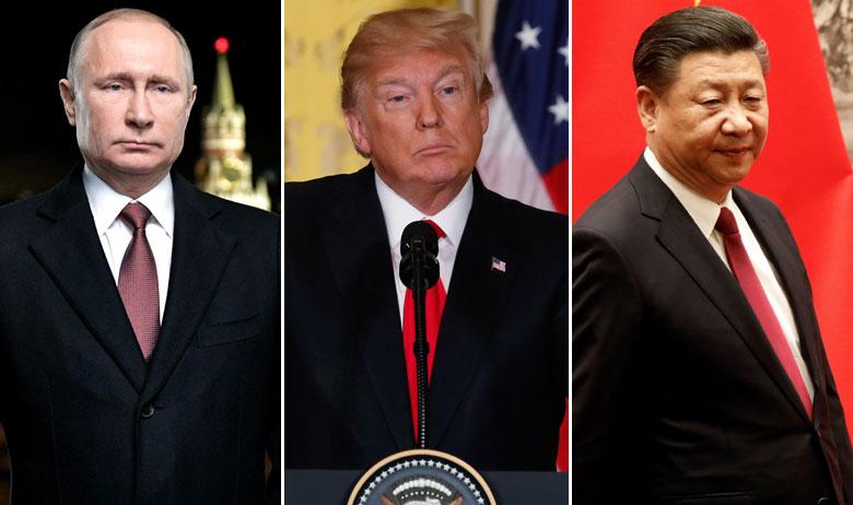 Vladimir Putin, Donald Trump, Xi Jinping