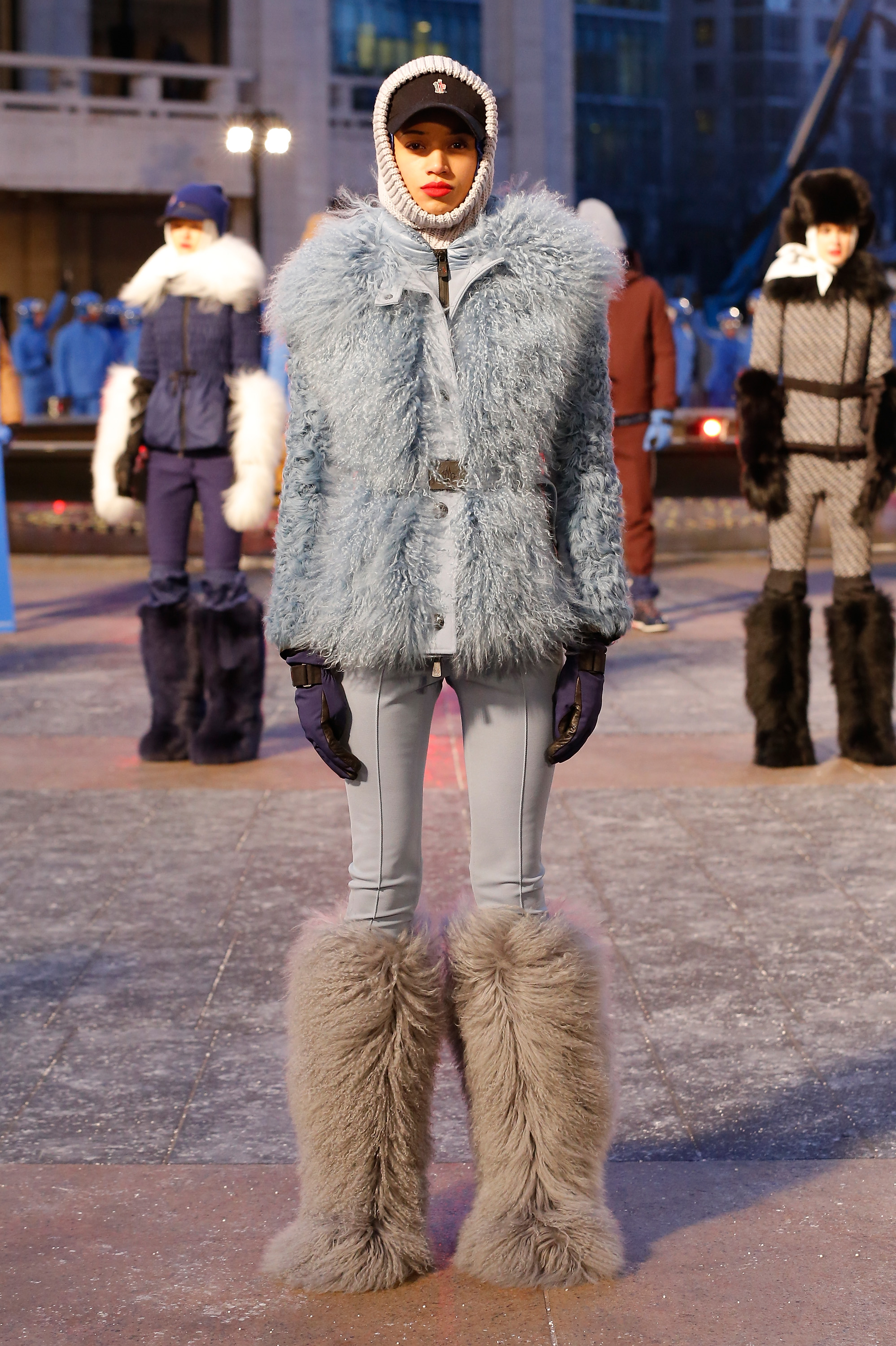 NEW YORK, NY - FEBRUARY 13:  A model poses during the Moncler Grenoble FW 16-17 presentation during New York Fashion Week at Lincoln Center on February 13, 2016 in New York City.  (Photo by JP Yim/Getty Images For Moncler Grenoble)