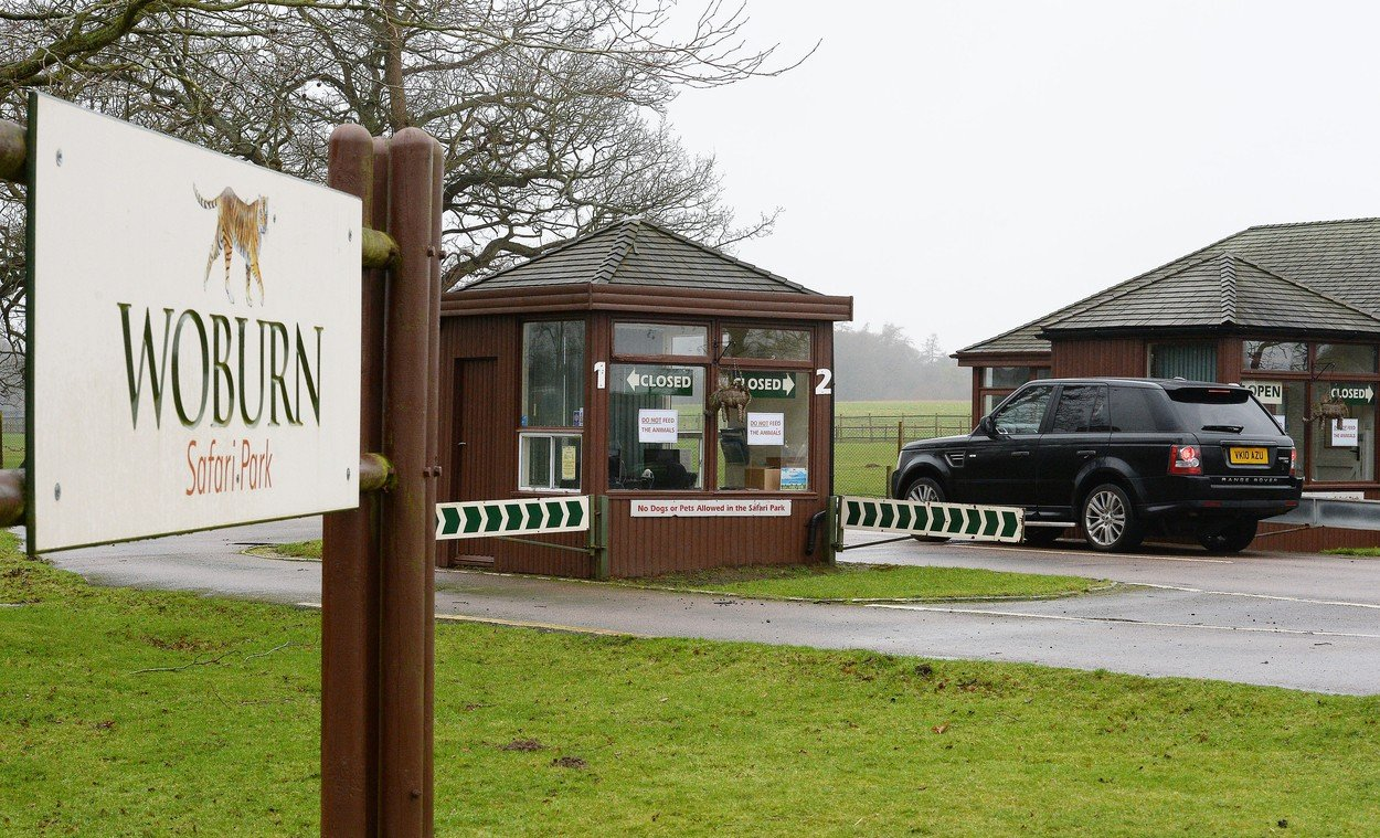 A general view of the entrance to Woburn Safari Park in Bedfordshire, where 13 Patas monkeys died in a fire., Image: 359052682, License: Rights-managed, Restrictions: , Model Release: no, Credit line: Profimedia, Press Association