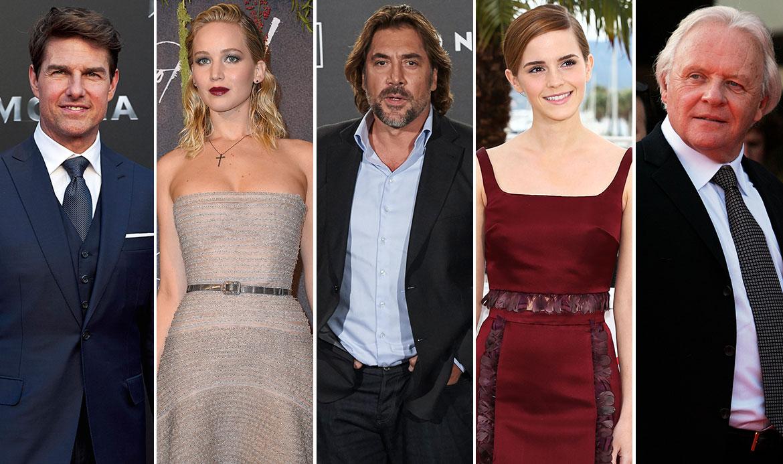 Tom Cruise, Jennifer Lawrence, Javier Bardem, Emma Watson, Anthony Hopkins