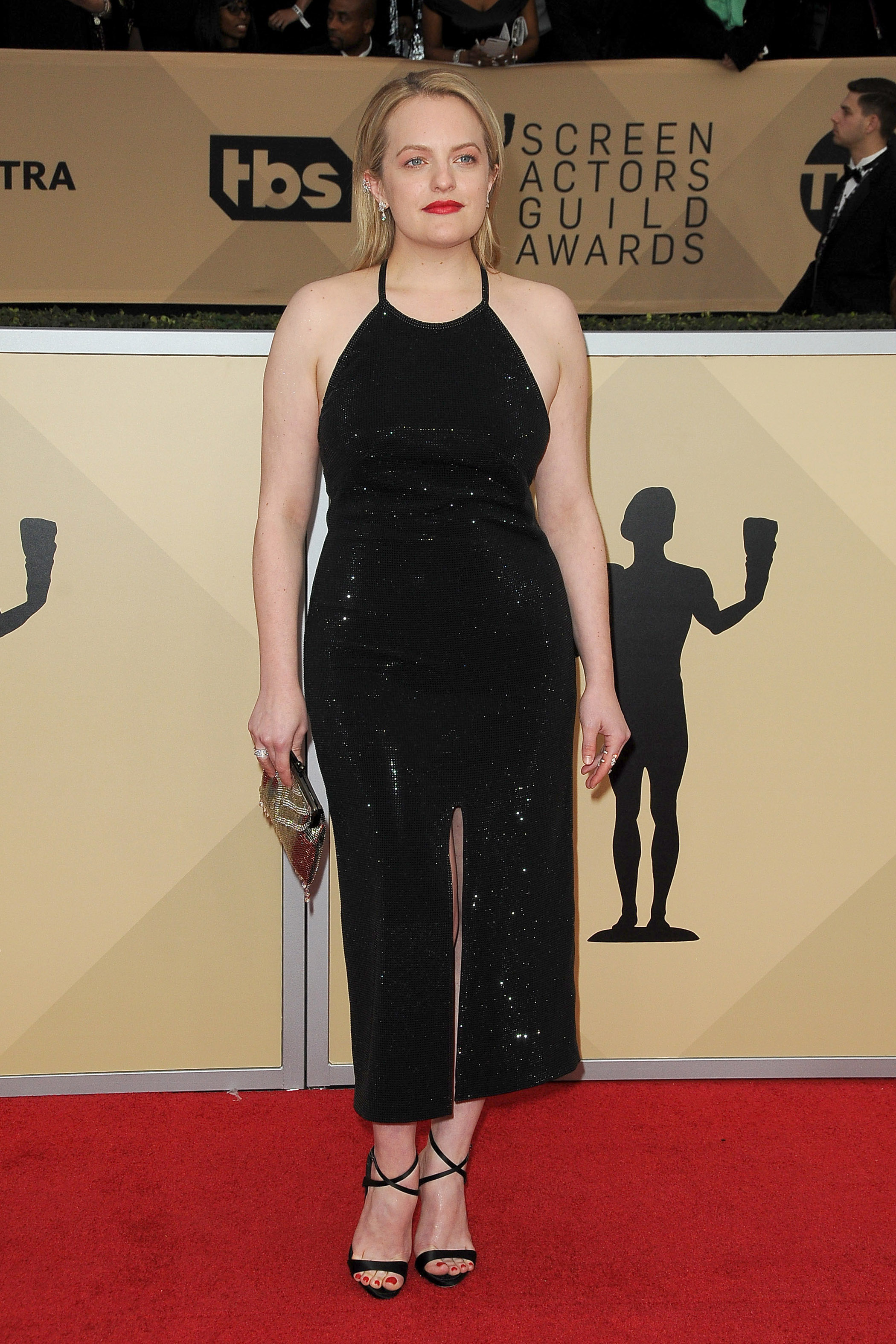 Arrivals for the 24th Annual Screen Actors Guild Awards, held at the Shrine Exposition Center in Los Angeles, California <P> Pictured: Elisabeth Moss <B>Ref: SPL1649120  210118  </B><BR/> Picture by: Splash News<BR/> </P><P> <B>Splash News and Pictures</B><BR/> Los Angeles:	310-821-2666<BR/> New York:	212-619-2666<BR/> London:	870-934-2666<BR/> <span id=