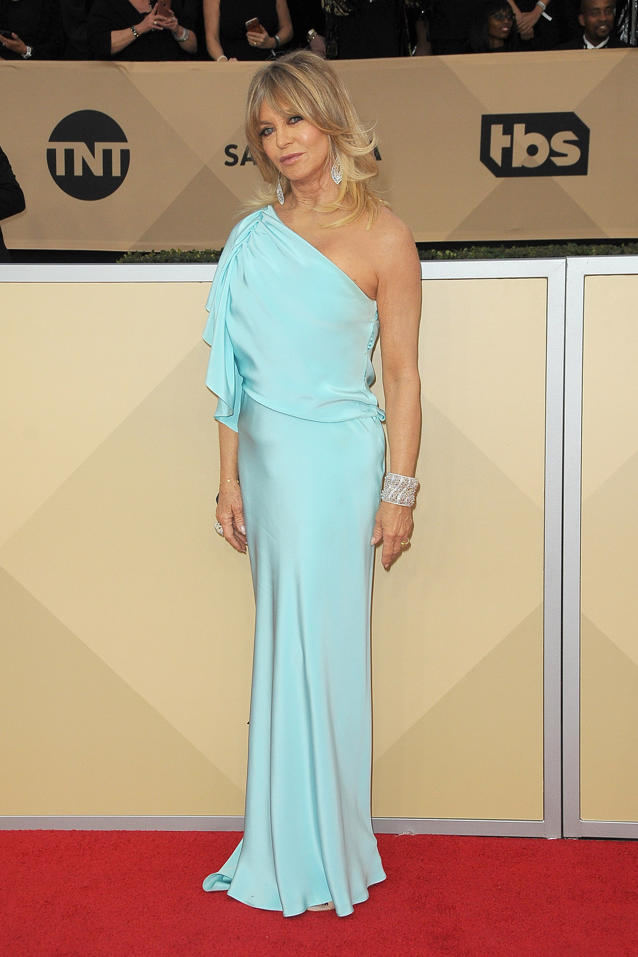 Arrivals for the 24th Annual Screen Actors Guild Awards, held at the Shrine Exposition Center in Los Angeles, California <P> Pictured: Goldie Hawn <B>Ref: SPL1649120  210118  </B><BR/> Picture by: Splash News<BR/> </P><P> <B>Splash News and Pictures</B><BR/> Los Angeles:	310-821-2666<BR/> New York:	212-619-2666<BR/> London:	870-934-2666<BR/> <span id=