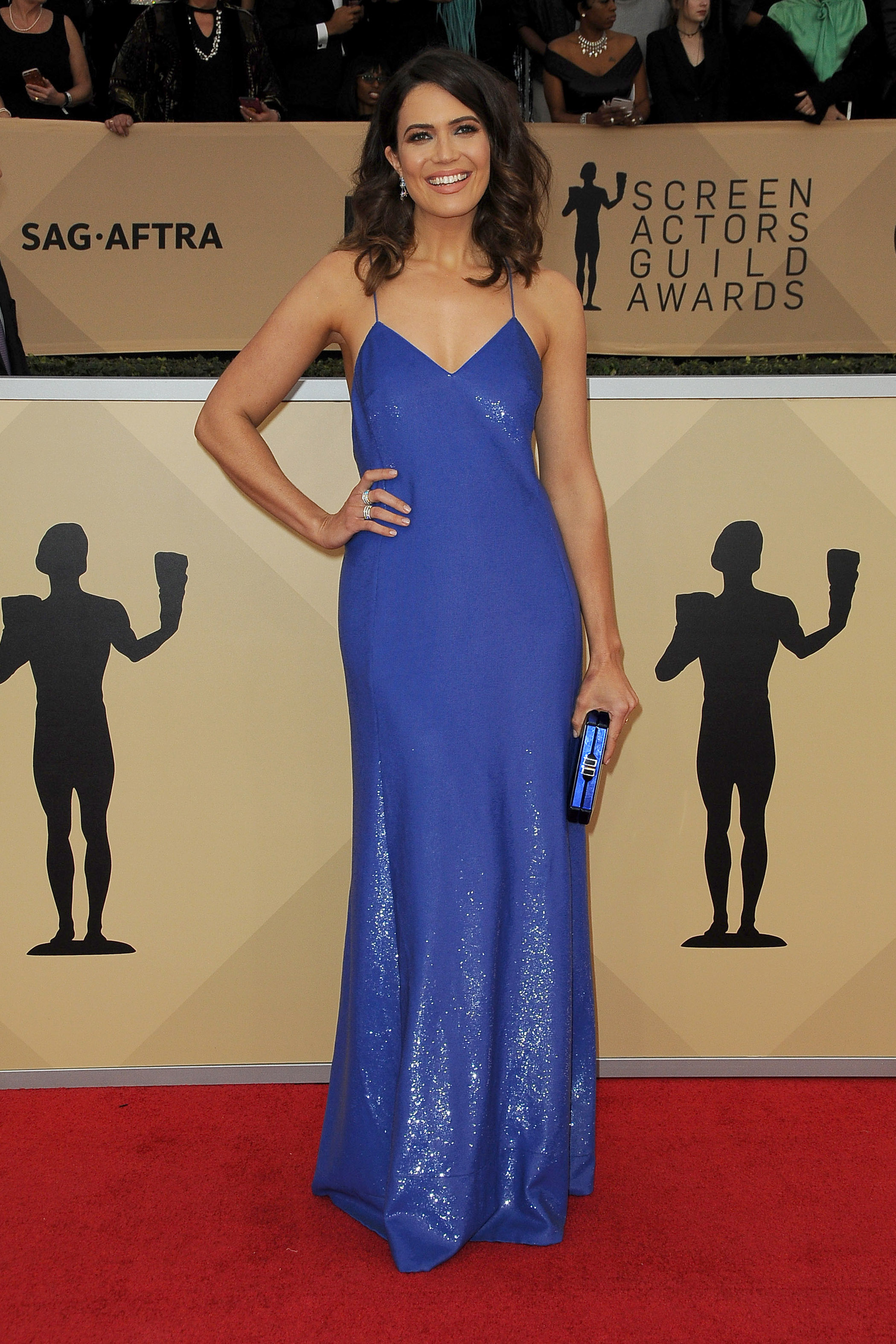Arrivals for the 24th Annual Screen Actors Guild Awards, held at the Shrine Exposition Center in Los Angeles, California <P> Pictured: Mandy Moore <B>Ref: SPL1649120  210118  </B><BR/> Picture by: Splash News<BR/> </P><P> <B>Splash News and Pictures</B><BR/> Los Angeles:	310-821-2666<BR/> New York:	212-619-2666<BR/> London:	870-934-2666<BR/> <span id=