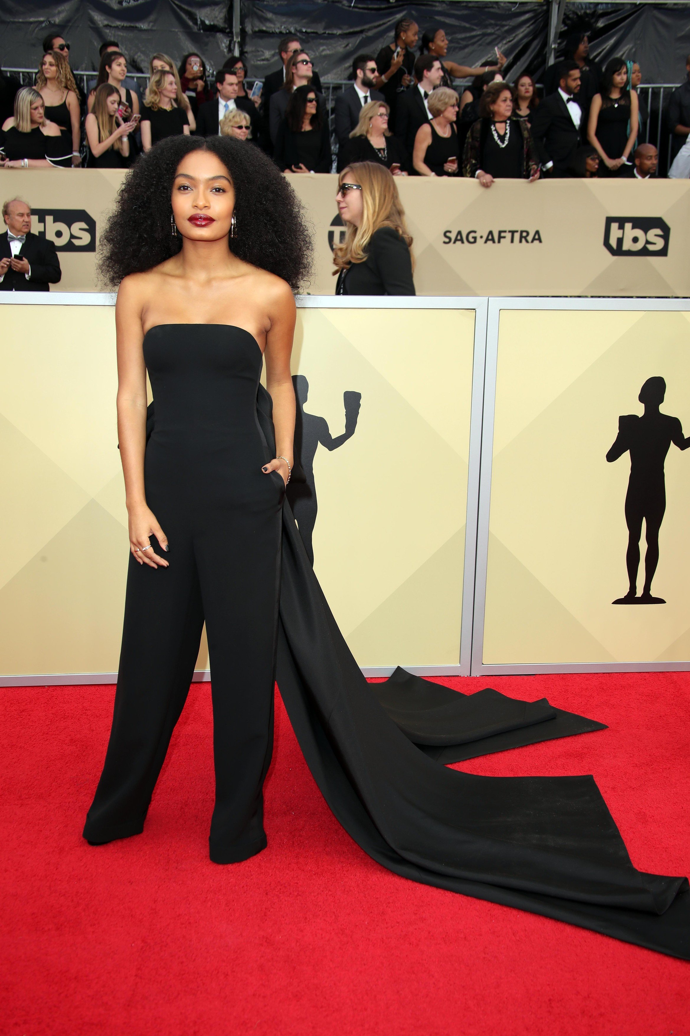 Jan 21, 2018; Los Angeles, CA, USA; Yara Shahidi arrives at the 24th annual Screen Actors Guild Awards at the Shrine Auditorium., Image: 360897260, License: Rights-managed, Restrictions: *** World Rights *** No Tabloids ***, Model Release: no, Credit line: Profimedia, SIPA USA