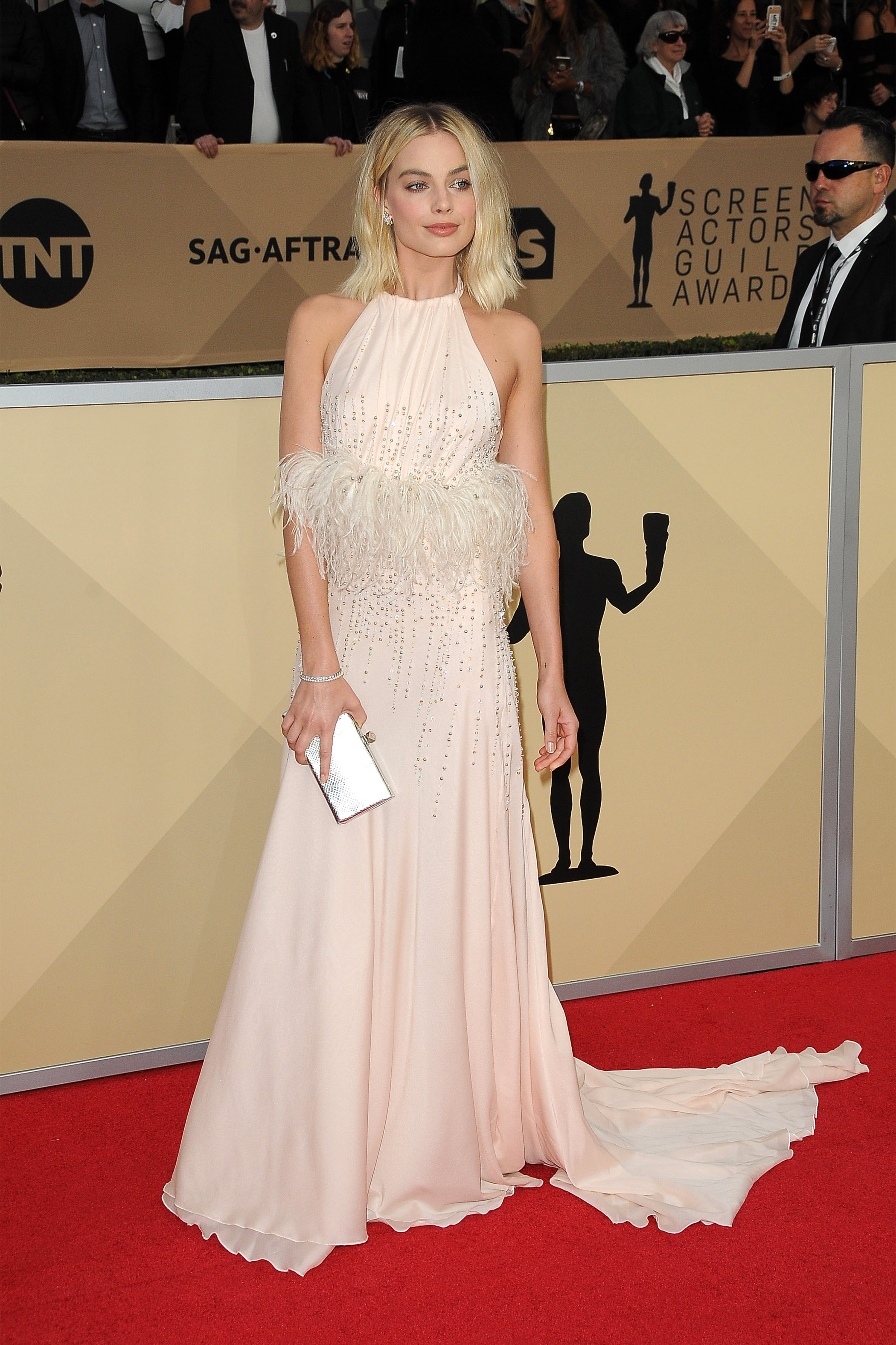 Arrivals for the 24th Annual Screen Actors Guild Awards, held at the Shrine Exposition Center in Los Angeles, California <P> Pictured: Margot Robbie <B>Ref: SPL1649120  210118  </B><BR/> Picture by: Splash News<BR/> </P><P> <B>Splash News and Pictures</B><BR/> Los Angeles:	310-821-2666<BR/> New York:	212-619-2666<BR/> London:	870-934-2666<BR/> <span id=