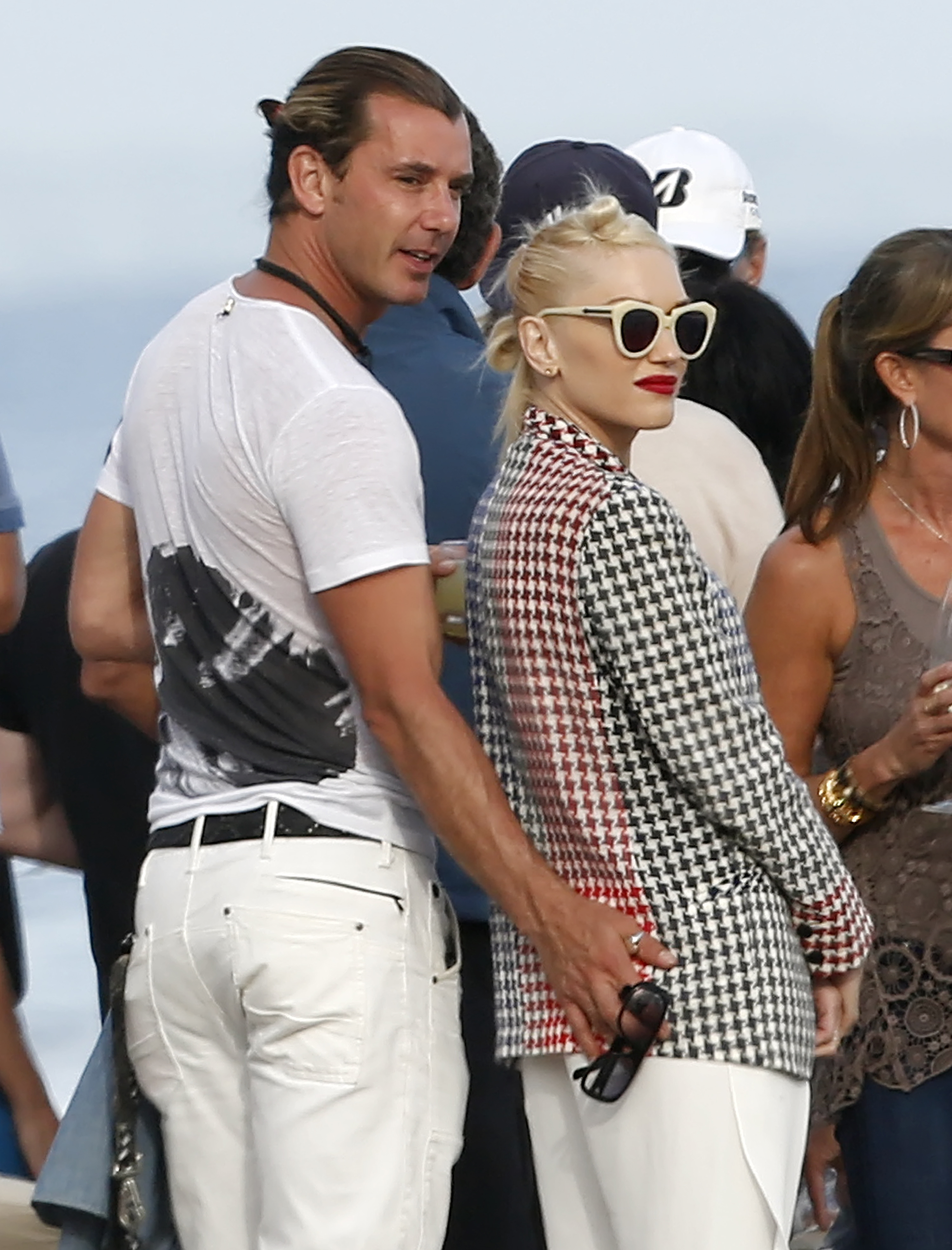 EXCLUSIVE: Gwen Stefani and husband Gavin Rossdale hanging out at a beach house party in Malibu, California. <P> Pictured: Gwen Stefani and Gavin Rossdale <P> <B>Ref: SPL551554  270513   EXCLUSIVE</B><BR/> Picture by: Splash News<BR/> </P><P> <B>Splash News and Pictures</B><BR/> Los Angeles:310-821-2666<BR/> New York:212-619-2666<BR/> London:870-934-2666<BR/> <span id=