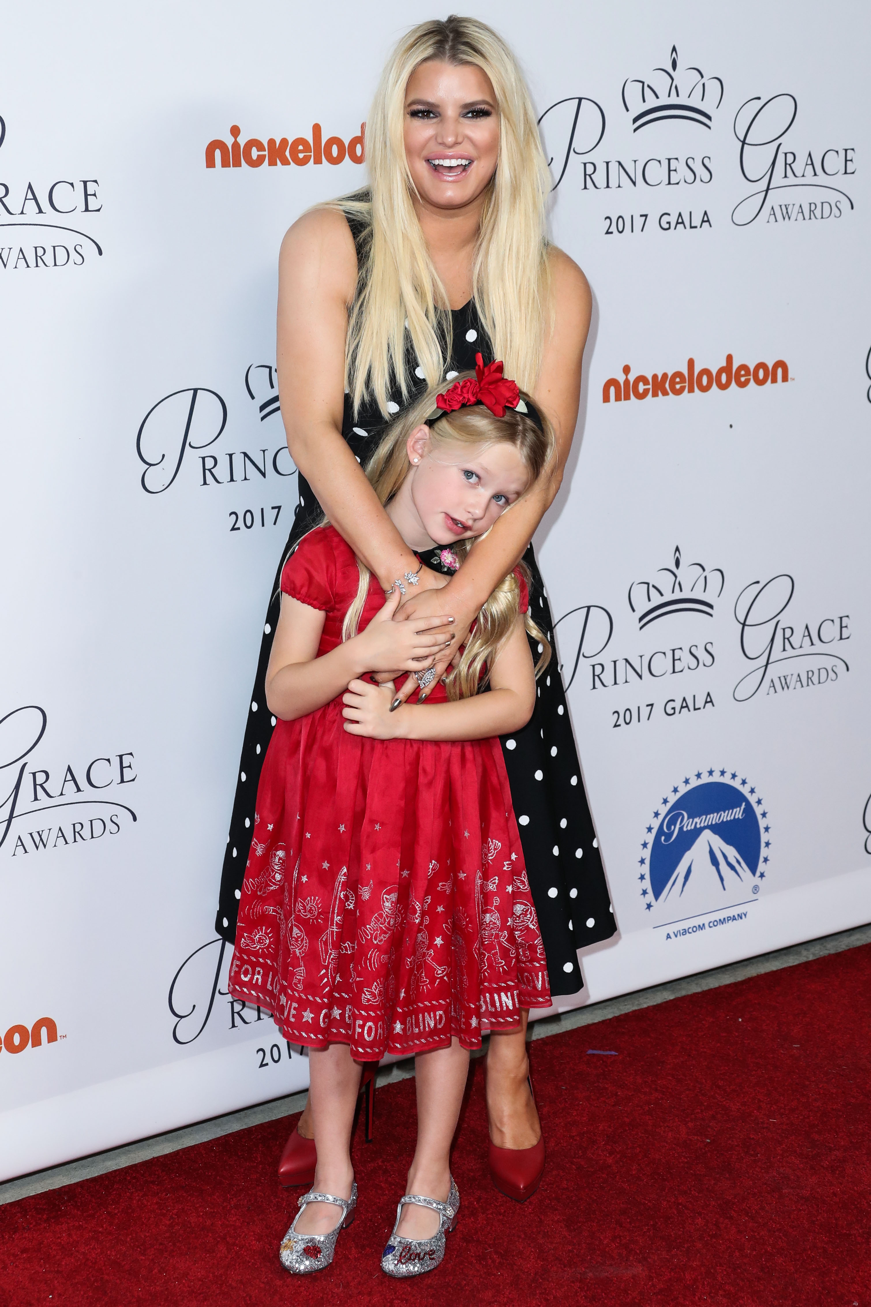 HOLLYWOOD, LOS ANGELES, CA, USA - OCTOBER 24: Singer/actress Jessica Simpson and daughter Maxwell Johnson arrive at the 2017 Princess Grace Awards Gala Kickoff Event held at Paramount Studios on October 24, 2017 in Hollywood, Los Angeles, California, United States. (Photo by Xavier Collin/Image Press Agency/Splash News) <P> Pictured: Jessica Simpson, Maxwell Johnson <B>Ref: SPL1609082  241017  </B><BR/> Picture by: Xavier Collin/IPA/Splash News<BR/> </P><P> <B>Splash News and Pictures</B><BR/> Los Angeles:310-821-2666<BR/> New York:212-619-2666<BR/> London:870-934-2666<BR/> <span id=