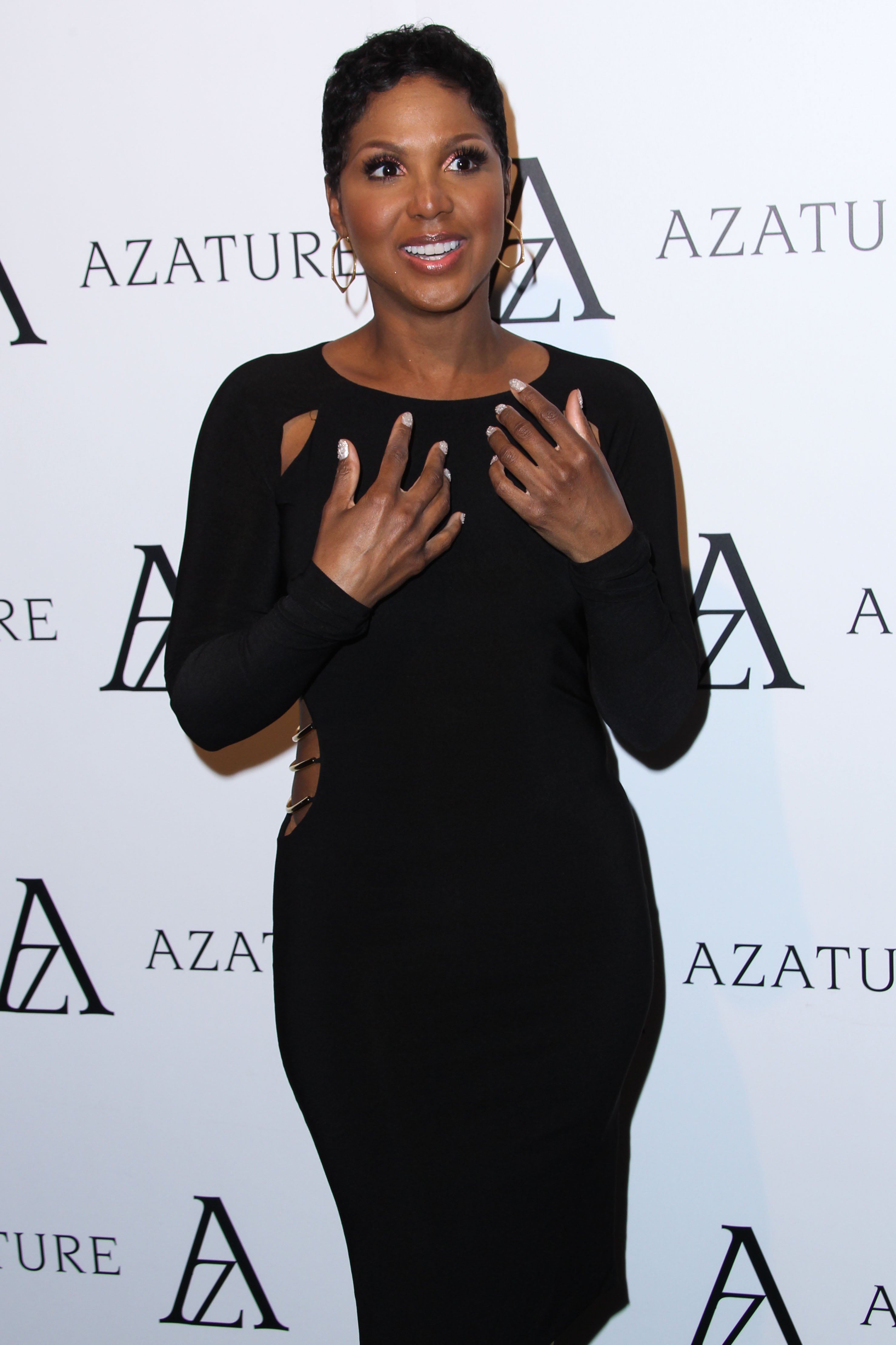 WEST HOLLYWOOD, CA - OCTOBER 08: Singer-songwriter Toni Braxton arrives at The Black Diamond Affair held at Sunset Tower Hotel on October 8, 2013 in West Hollywood, California. <P> Pictured: Toni Braxton <P><B>Ref: SPL627396  081013  </B><BR/> Picture by: Xavier Collin/Celebrity Monitor/ Splash News<BR/> </P><P> <B>Splash News and Pictures</B><BR/> Los Angeles:310-821-2666<BR/> New York:212-619-2666<BR/> London:870-934-2666<BR/> <span id=