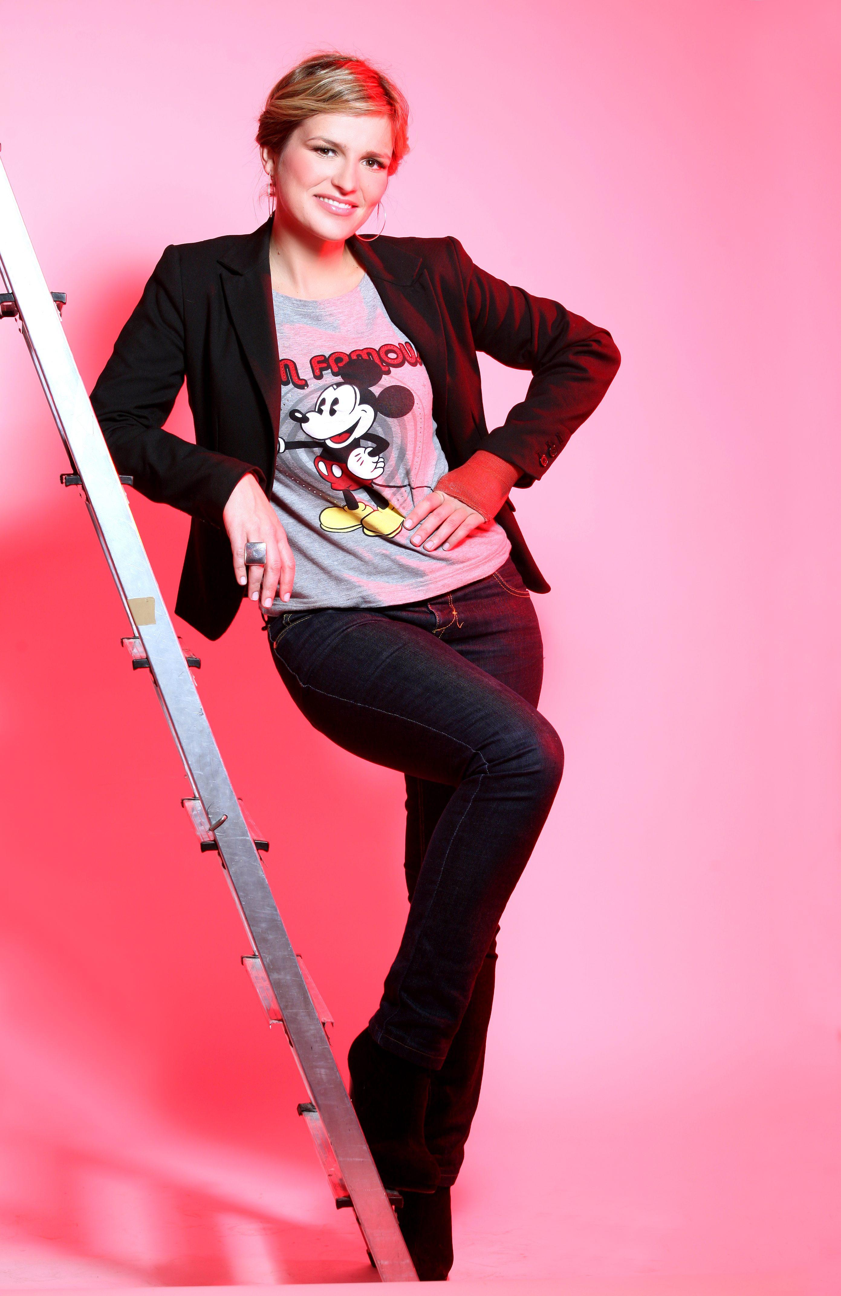 Zagreb, 270209. Antonija Blace, RTL-ova voditeljica. Studio EPH. Foto: Biljana Gaurina / CROPIX