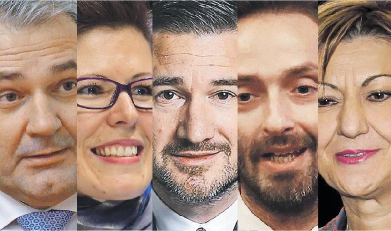 S lijeva nadesno: DAVOR MAJETIĆ, glavni direktor Hrvatske udruge poslodavaca, MARUŠKA VIZEK, ravnateljica Ekonomskog instituta, IVAN BARAĆ, posebni savjetnik potpredsjednice Vlade, BORIS DRILO, predsjednik HUP-ICT, MARTINA DALIĆ, potpredsjednica Vlade i ministrica gospodarstva