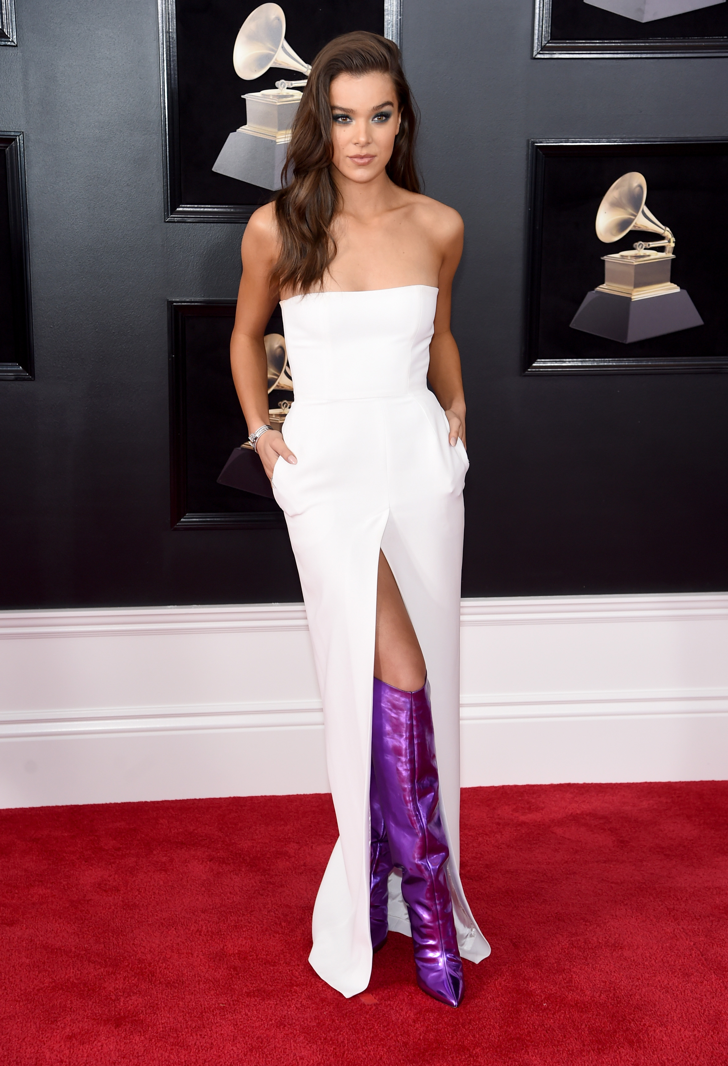 NEW YORK, NY - JANUARY 28:  Recording artist-actor Hailee Steinfeld attends the 60th Annual GRAMMY Awards at Madison Square Garden on January 28, 2018 in New York City.  (Photo by Jamie McCarthy/Getty Images)