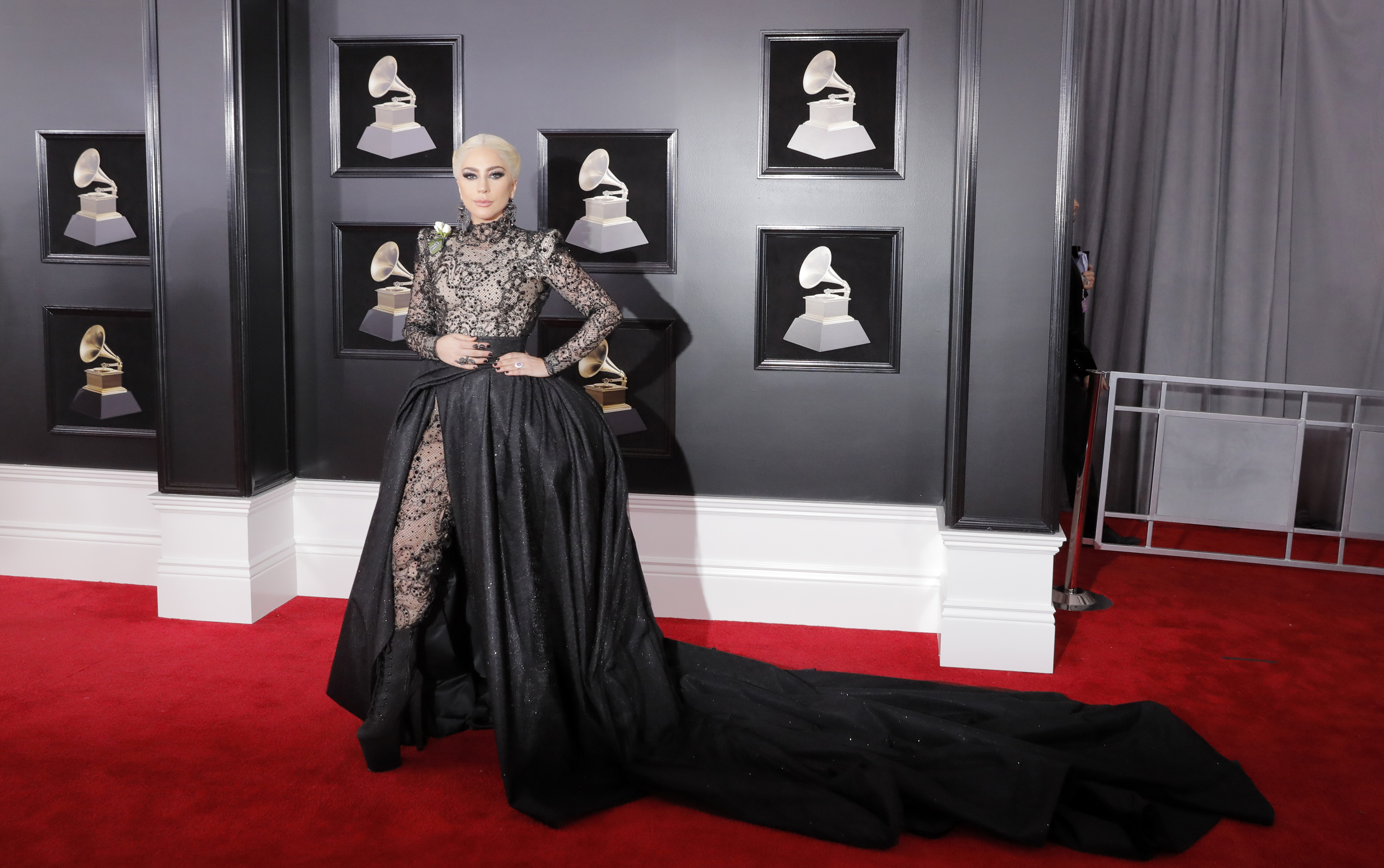 60th Annual Grammy Awards  Arrivals  New York, U.S., 28/01/2018  Lady Gaga. REUTERS/Andrew Kelly - HP1EE1S1PSNPV