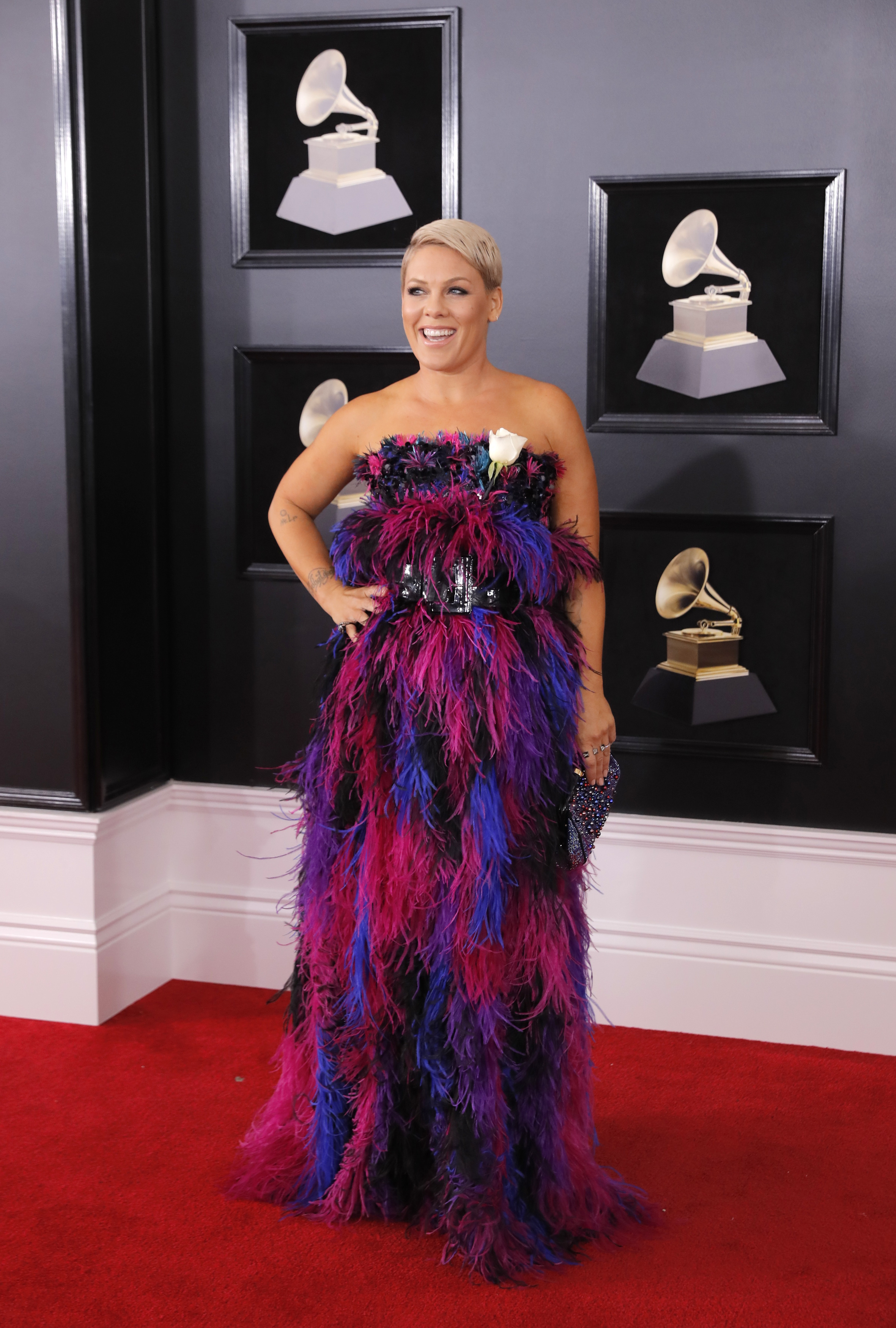 60th Annual Grammy Awards  Arrivals  New York, U.S., 28/01/2018  Singer Pink. REUTERS/Andrew Kelly - HP1EE1T00L333