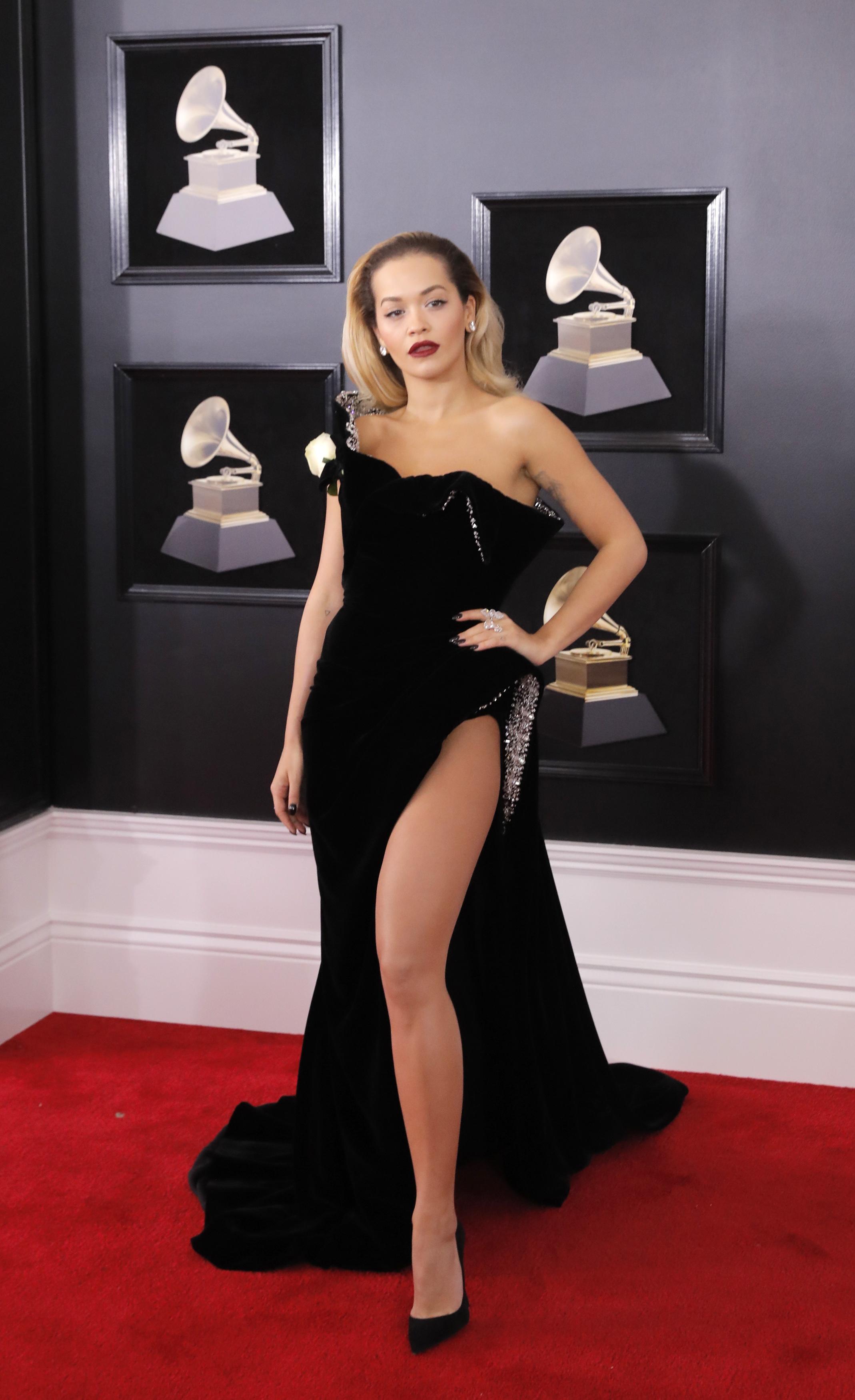 60th Annual Grammy Awards  Arrivals  New York, U.S., 28/01/2018  Singer Rita Ora. REUTERS/Andrew Kelly - HP1EE1T001B15