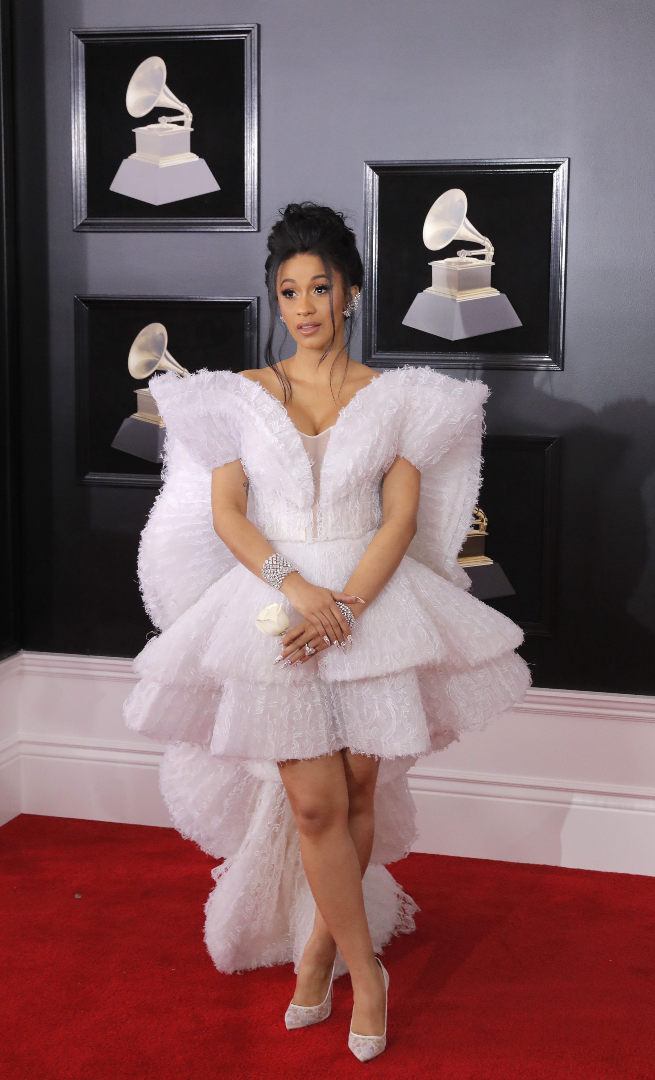 60th Annual Grammy Awards  Arrivals  New York, U.S., 28/01/2018  Singer Cardi B. REUTERS/Andrew Kelly - HP1EE1S1U51ZF