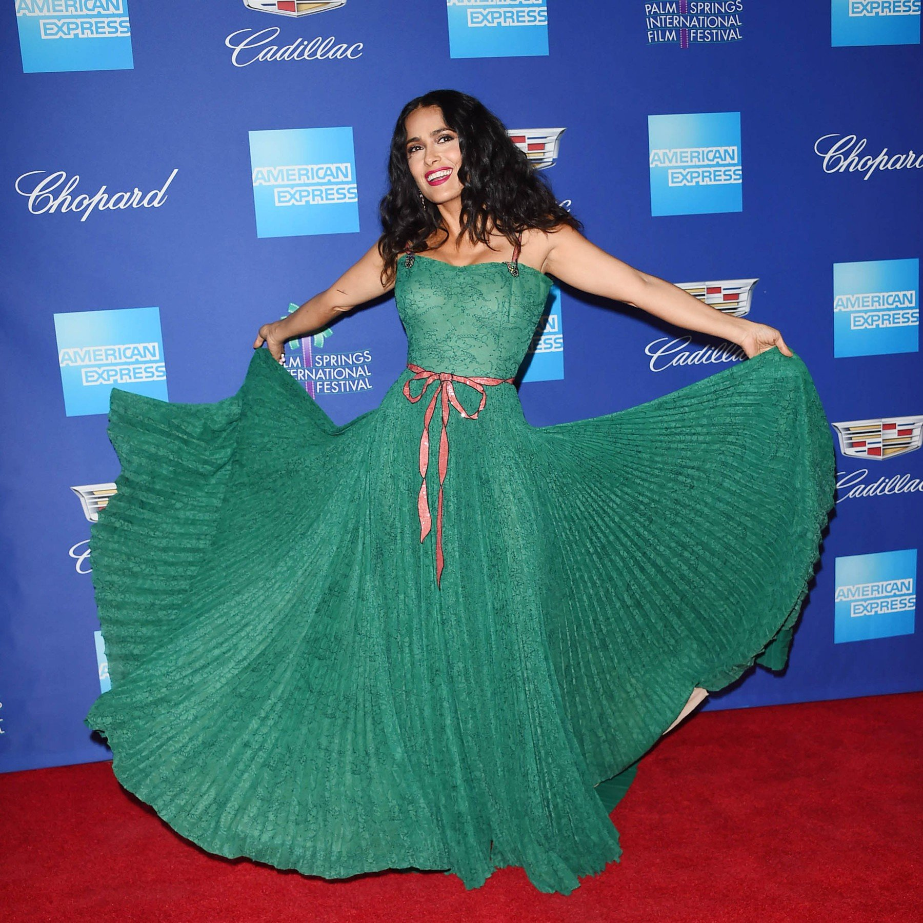 , Palm Springs, CA -20180102 - The 29th Palm Springs International Film Festival: Awards Gala at Palm Springs Convention Center  -PICTURED: Salma Hayek -, Image: 359088595, License: Rights-managed, Restrictions: , Model Release: no, Credit line: Profimedia, INSTAR Images