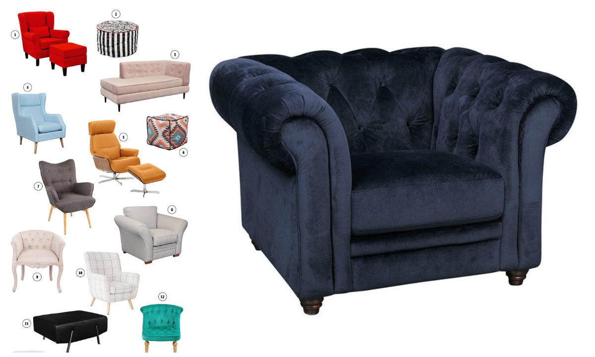 Fotelje collage