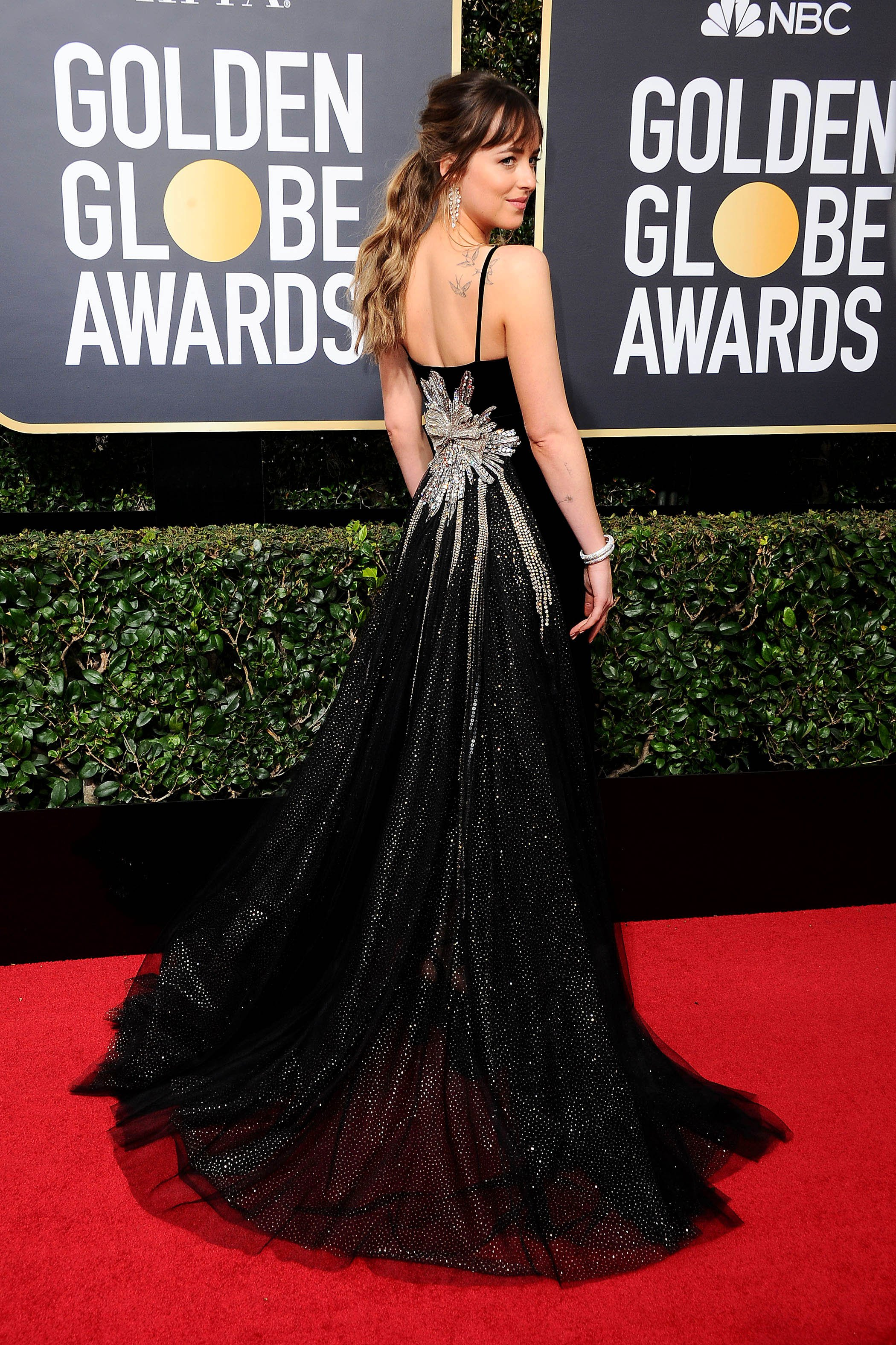 , Beverly Hills, CA -20180107 - The 75th Golden Globe Awards - Arrivals at The Beverly Hilton  -PICTURED: Dakota Johnson -, Image: 359491349, License: Rights-managed, Restrictions: , Model Release: no, Credit line: Profimedia, INSTAR Images